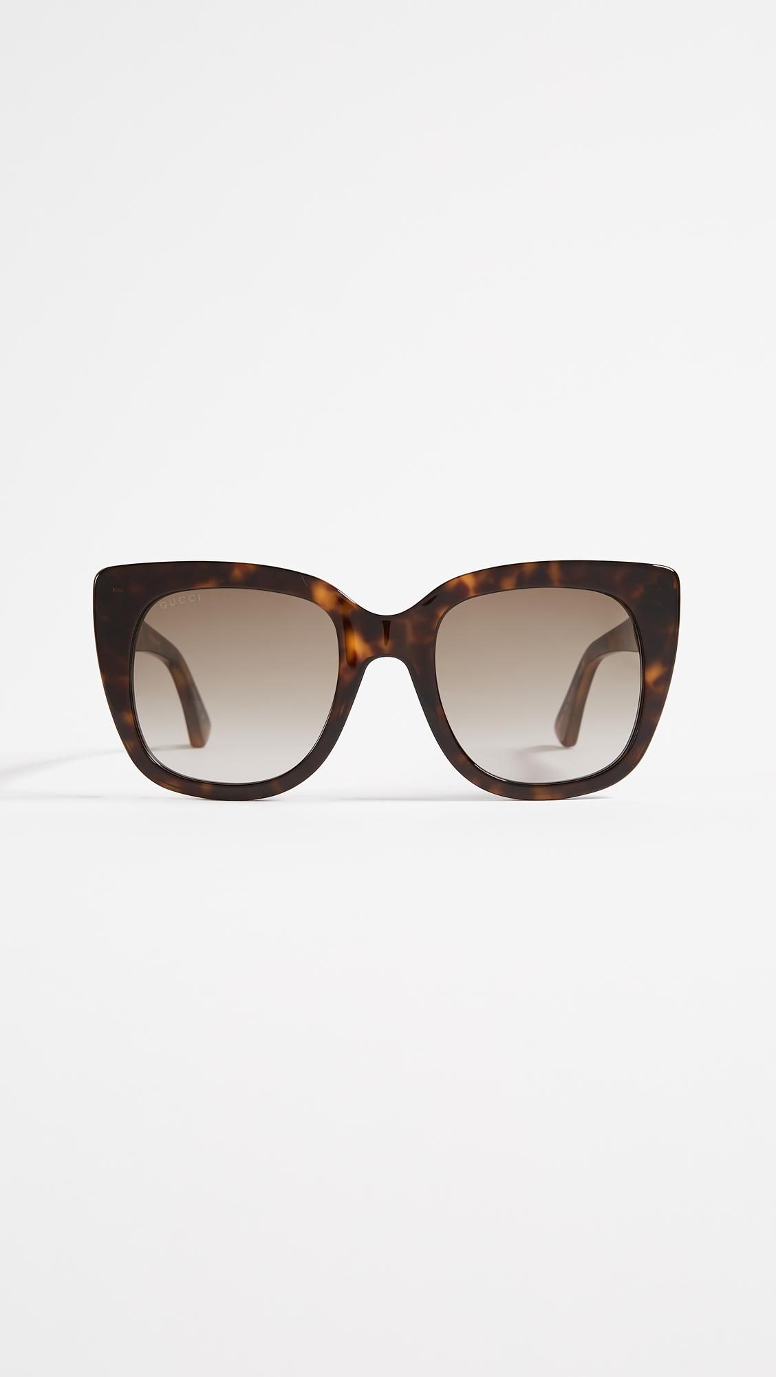 0c0c4c0965194 Lyst - Gucci Square Sunglasses in Brown - Save 5%