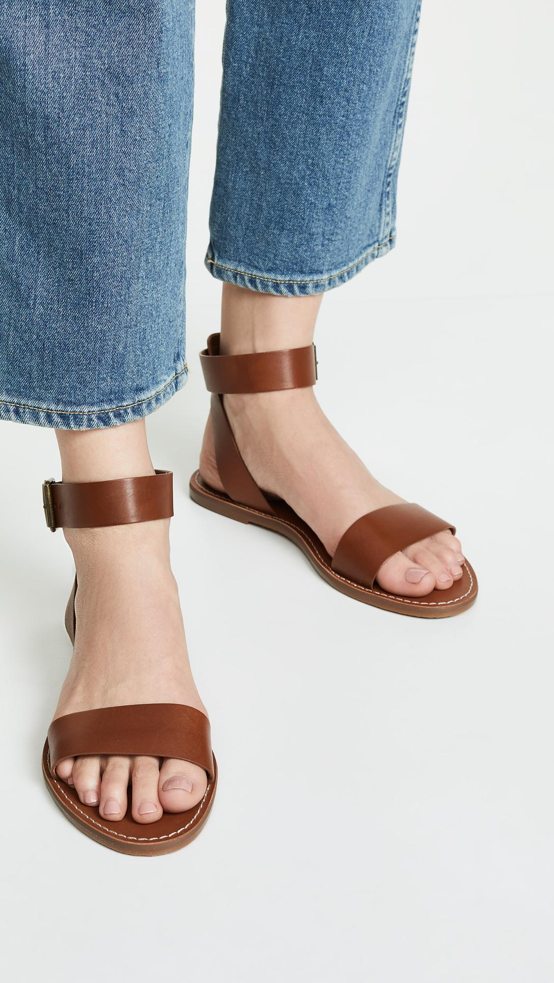 81e6572c12b8 Madewell - Brown The Boardwalk Ankle Strap Sandal - Lyst. View fullscreen