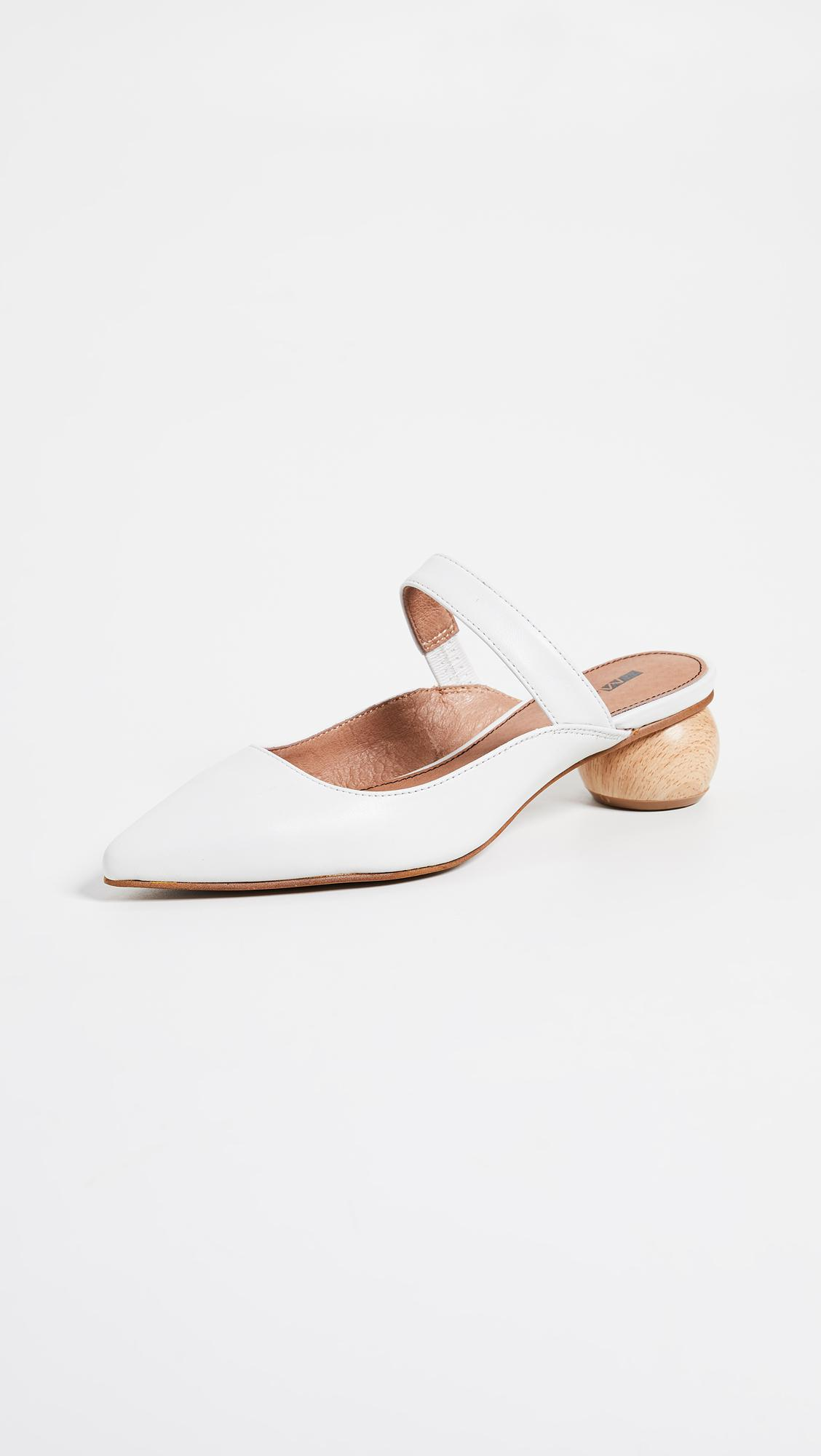 ecc83d2a462 Matiko Virca Point Toe Mules in White - Lyst