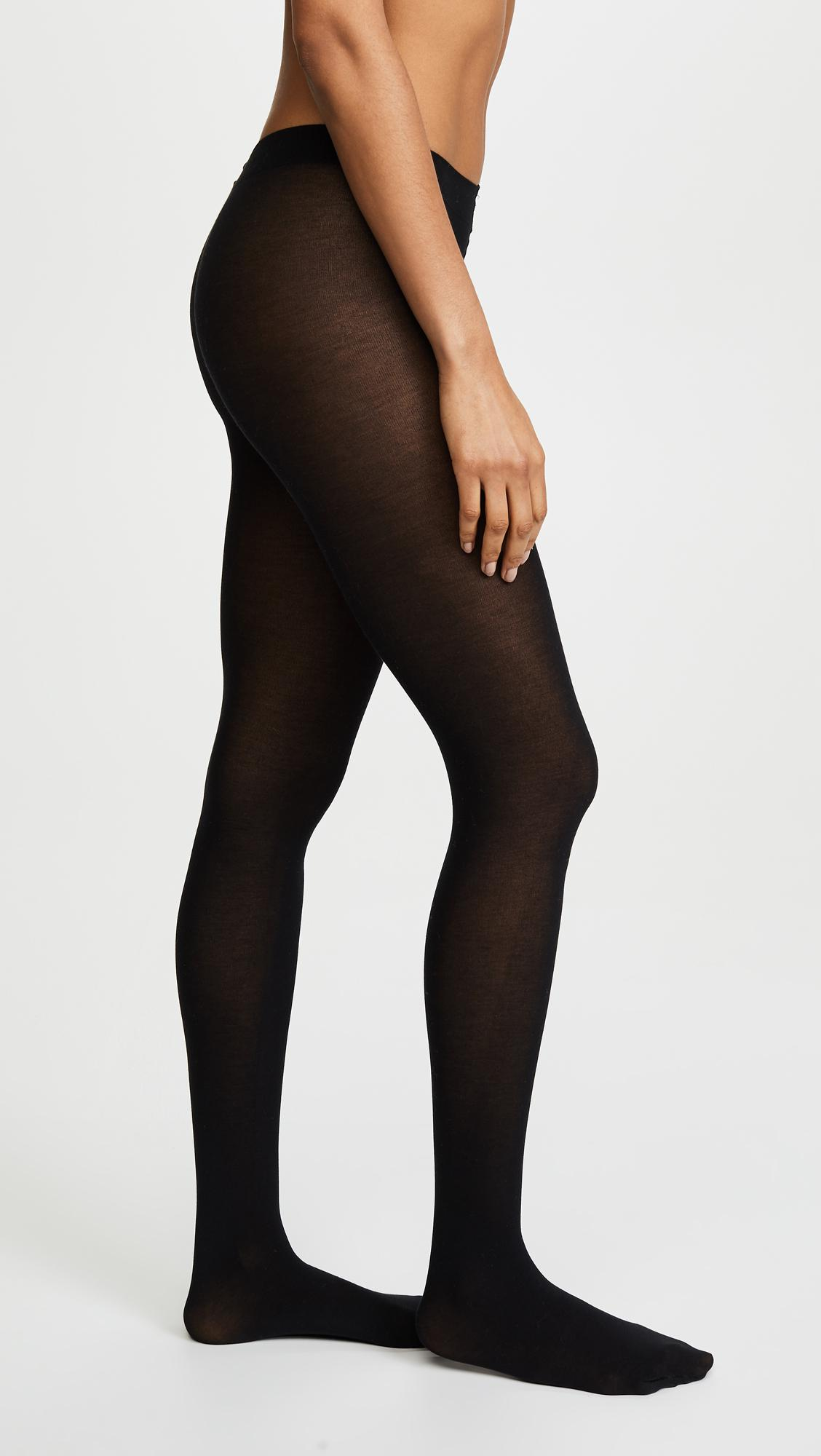 2299db18a2652 Falke - Black Cotton Touch Tights - Lyst. View fullscreen
