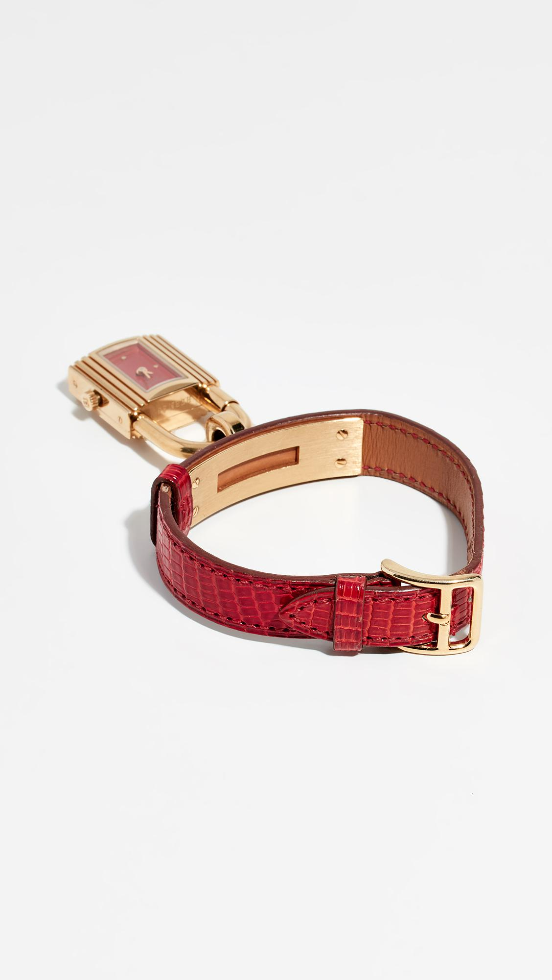 2f72e1bd6d97 What Goes Around Comes Around - Metallic Hermes Lizard Kelly Watch - Lyst.  View fullscreen