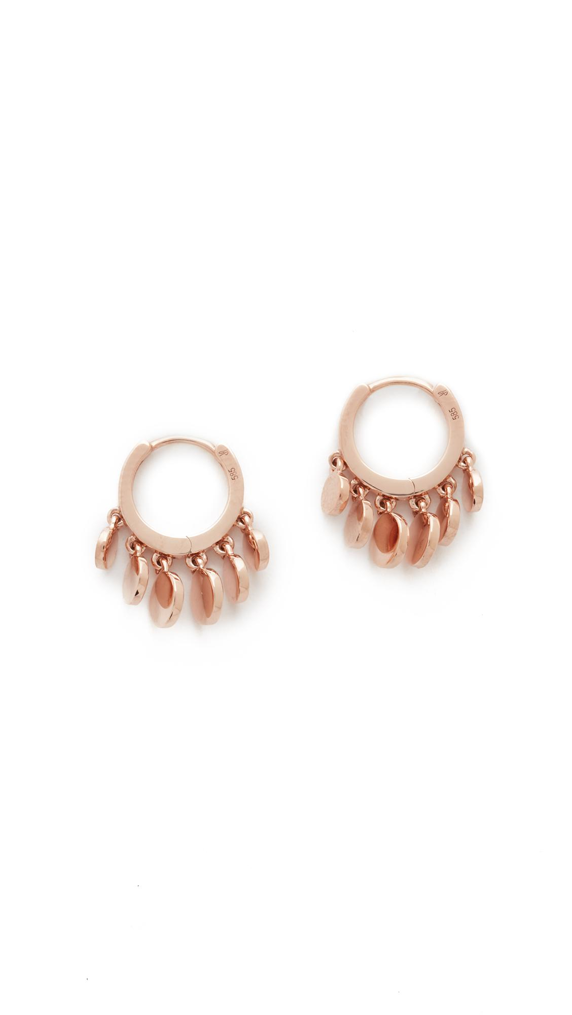 Disco shaker 14kt rose gold single earring Jacquie Aiche BMAuq