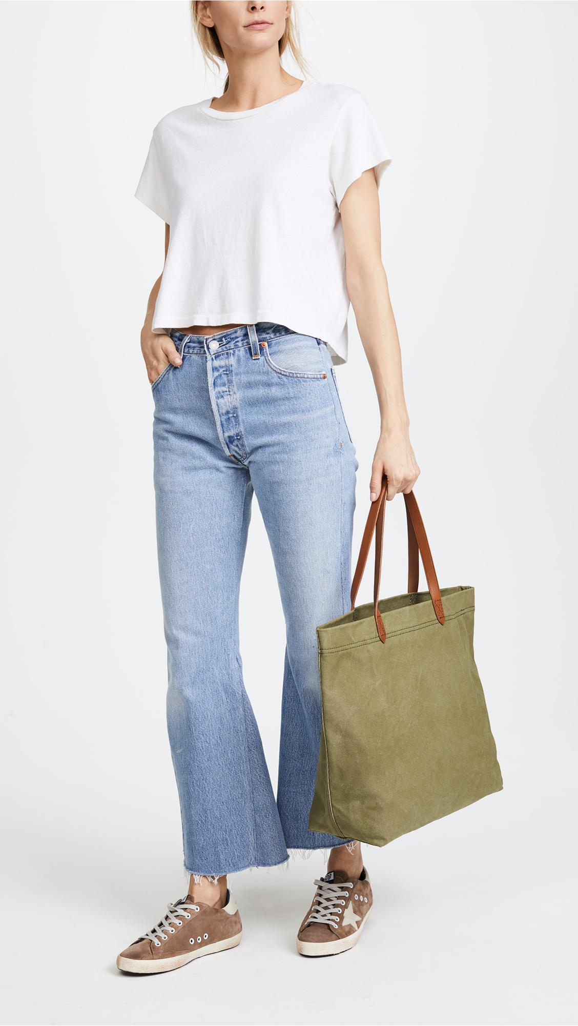 645f1a5b1 Madewell Heavy Canvas Transport Tote in Green - Lyst