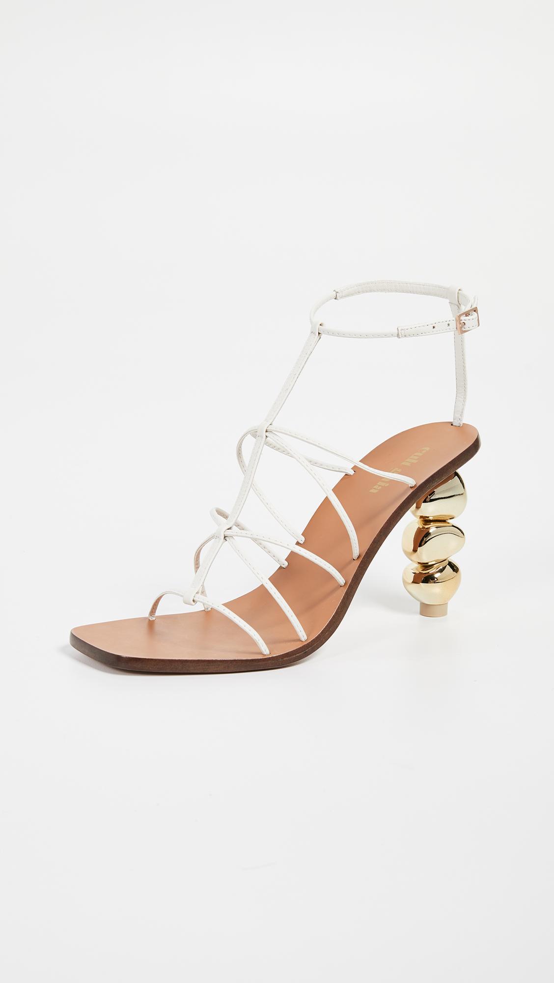 48243160a7e Cult Gaia Pietra Heel Sandals in White - Lyst