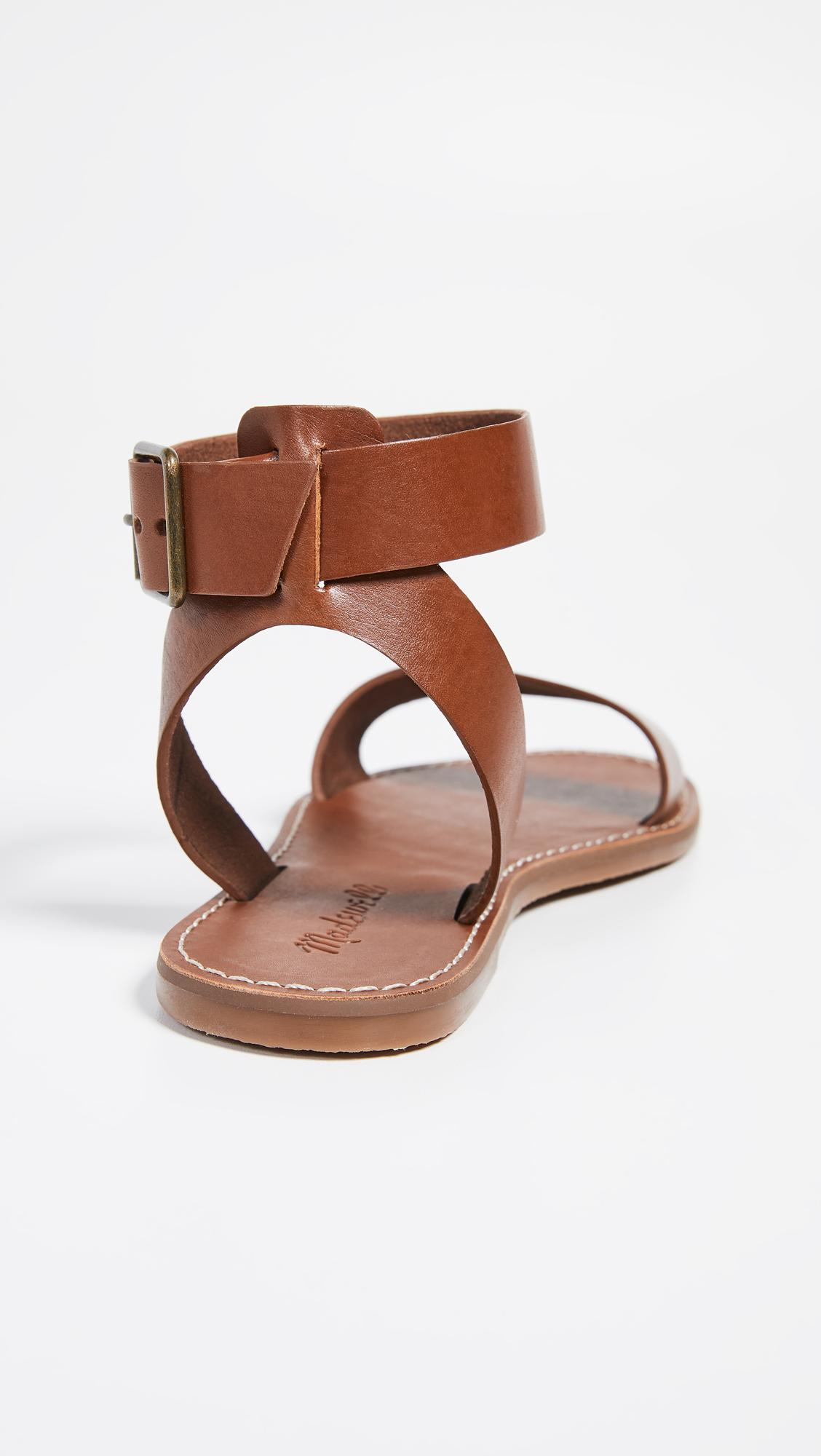 1b853f0c1e135e Madewell - Brown The Boardwalk Ankle Strap Sandals - Lyst. View fullscreen