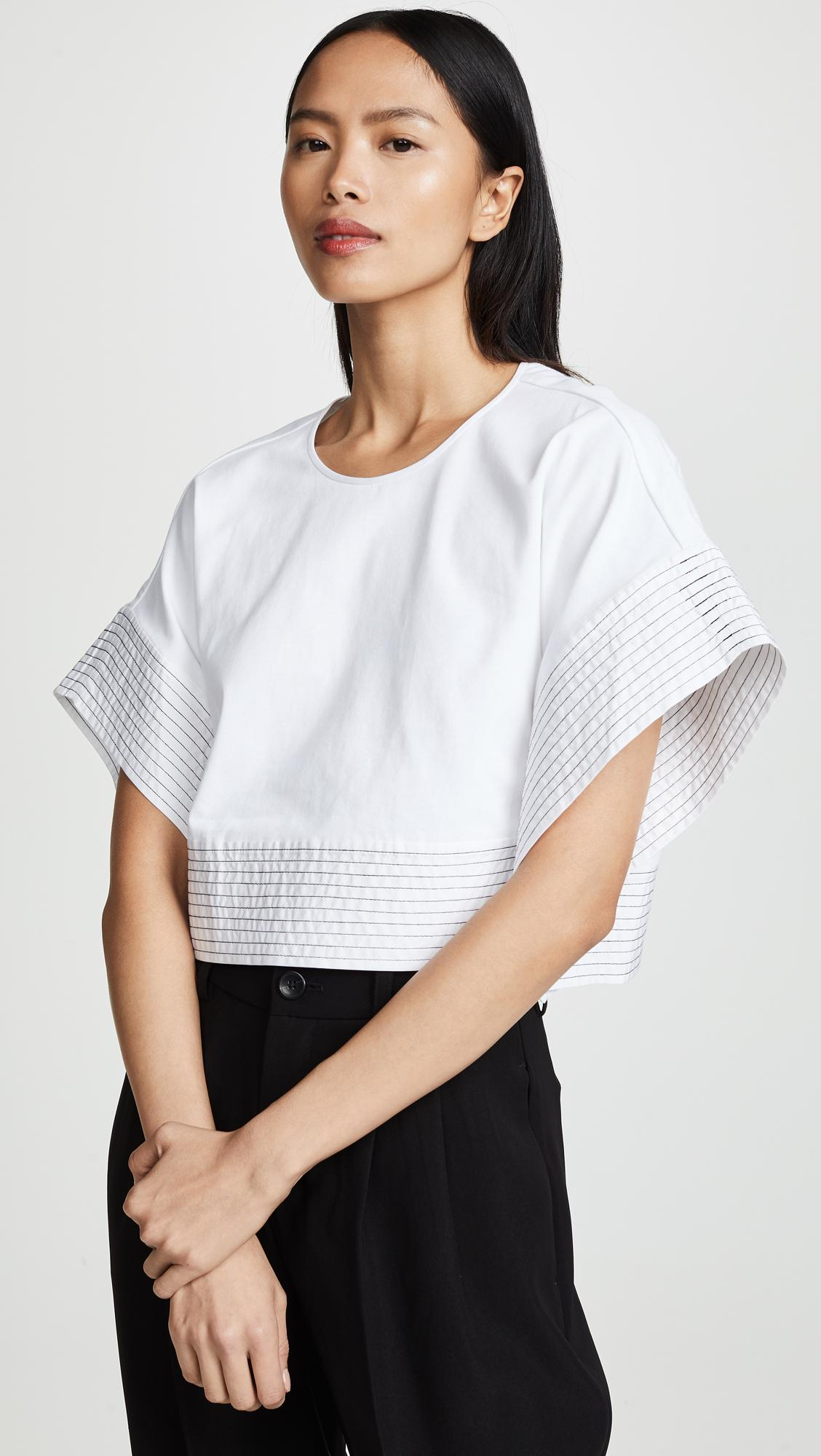 26a7b8df718812 Lyst - 3.1 Phillip Lim Boxy T-shirt With Back Ties in White