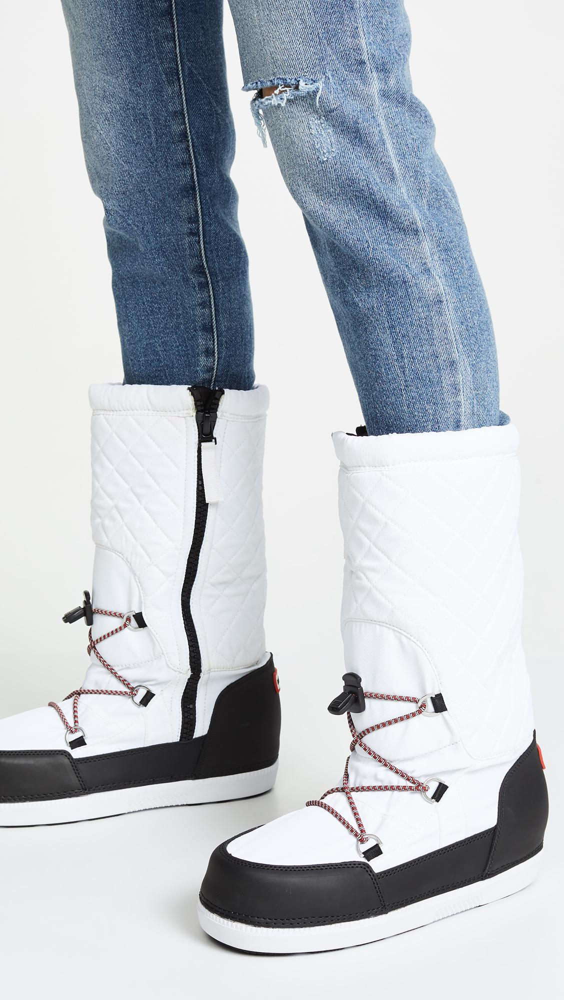 3cae44c4f22a Hunter - White Original Snow Quilted Boots - Lyst. View fullscreen