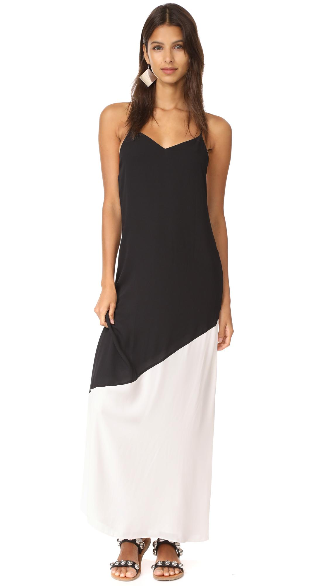 Maggie ruched bodice maxi dress
