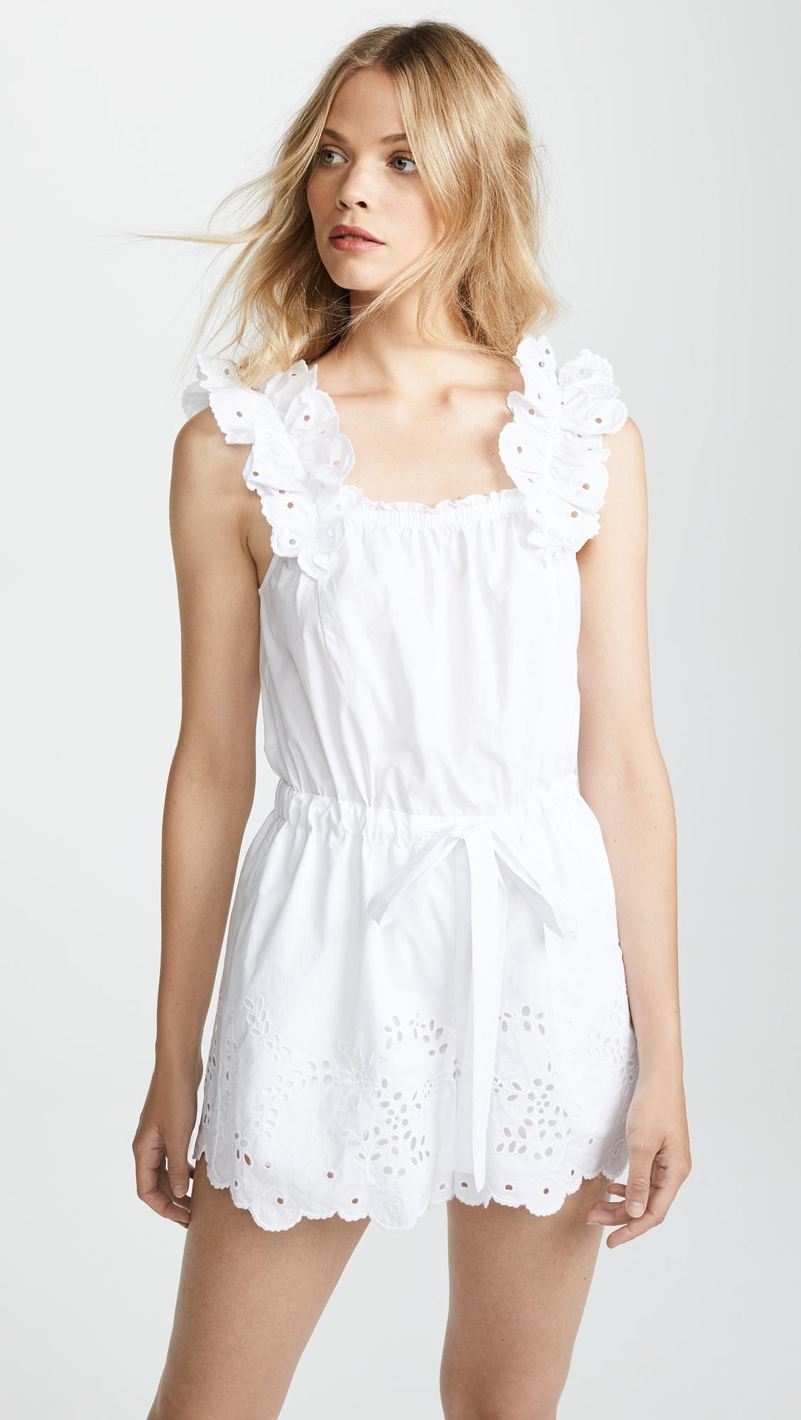 ec31c7e5c7bb Lyst - La Vie Rebecca Taylor Eyelet Romper in White