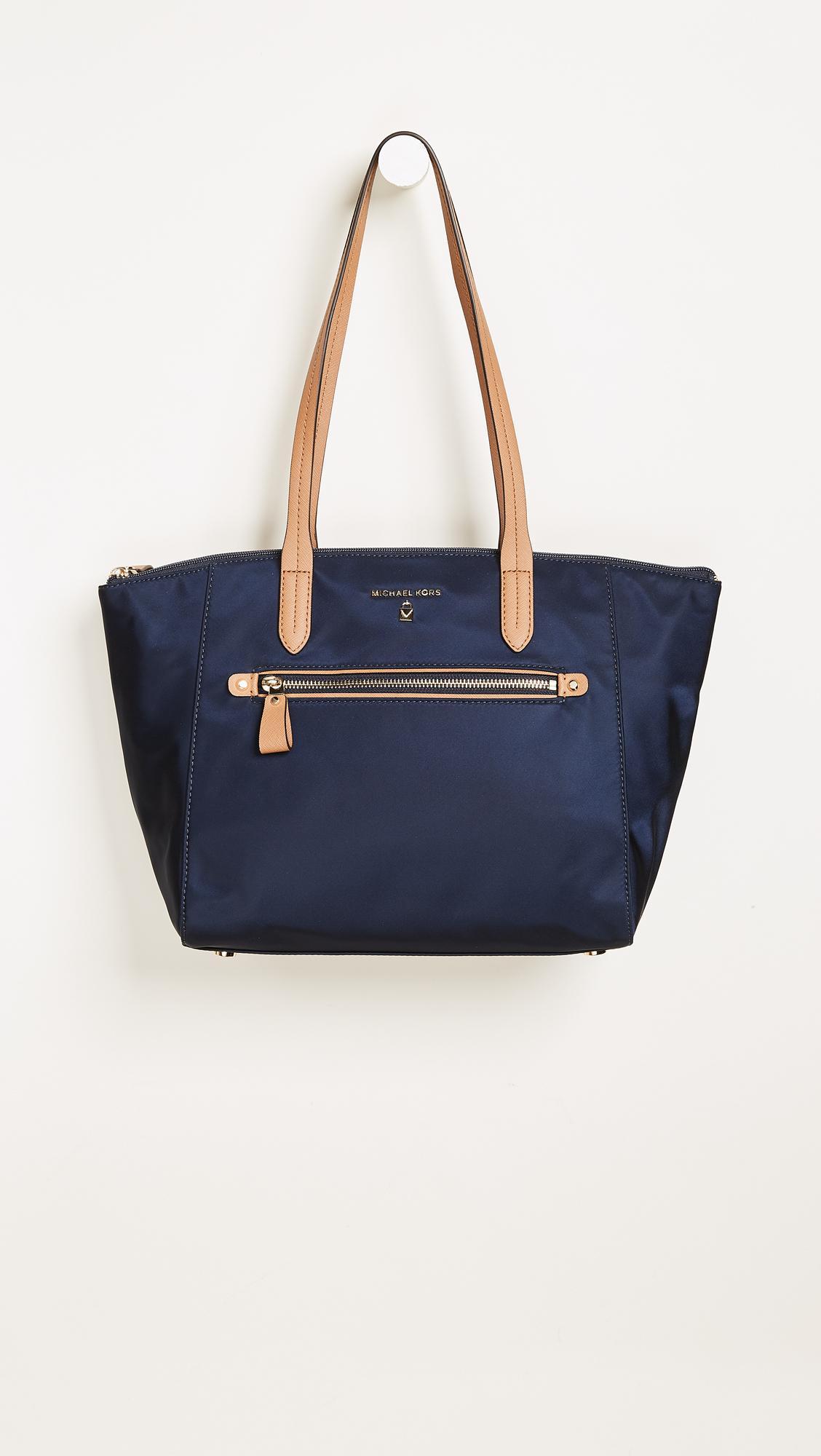 be332e2274a8 Lyst - MICHAEL Michael Kors Nylon Kelsey Medium Top Zip Tote in Blue