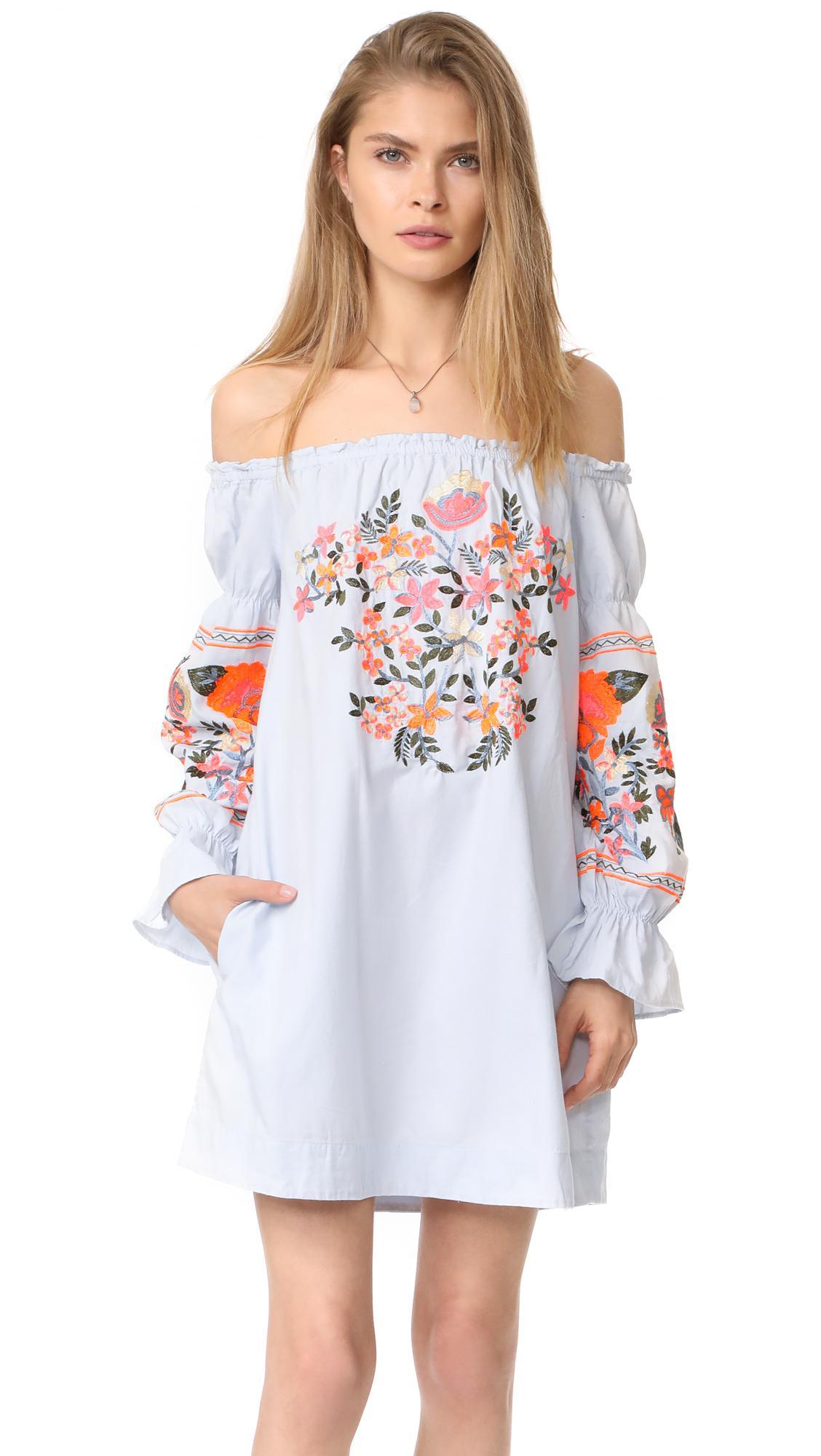 b34c0270897aa Free People Fleur Du Jour Mini Dress in Blue - Lyst