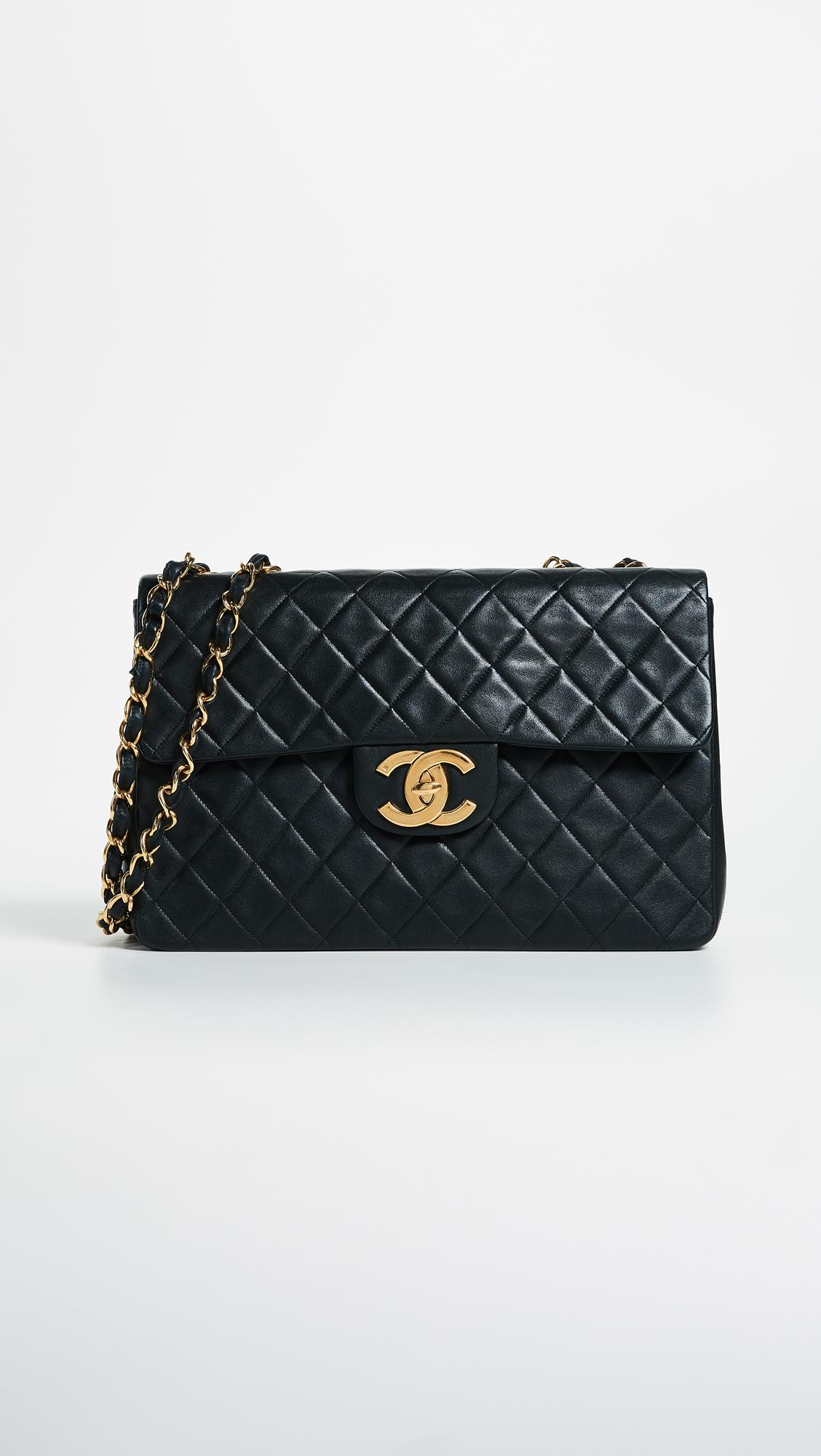 What Goes Around Comes Around. Women s Chanel Jumbo 2.55 Shoulder Bag -  Black f02ee443b2e68
