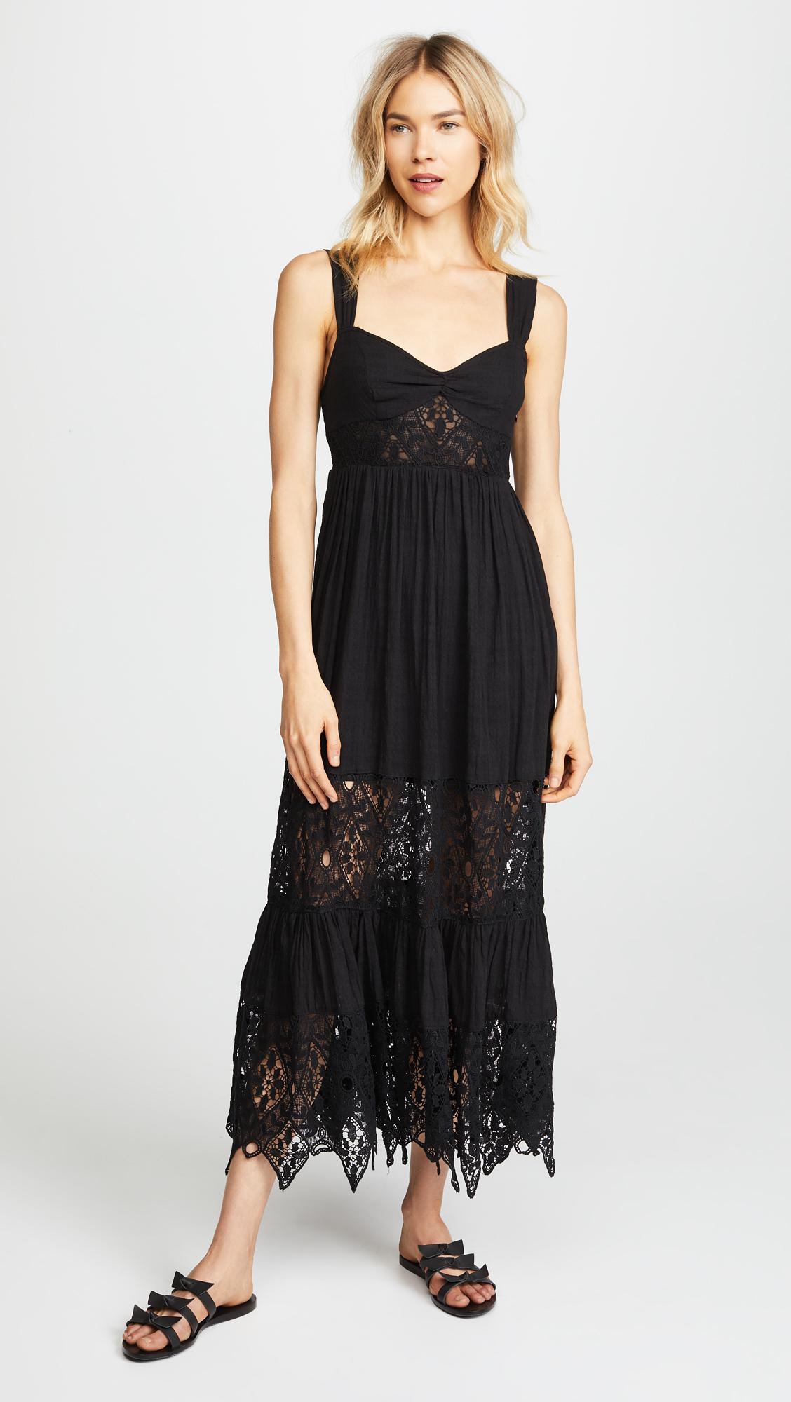 Lyst - Free People Caught Your Eye Maxi Dress in Black