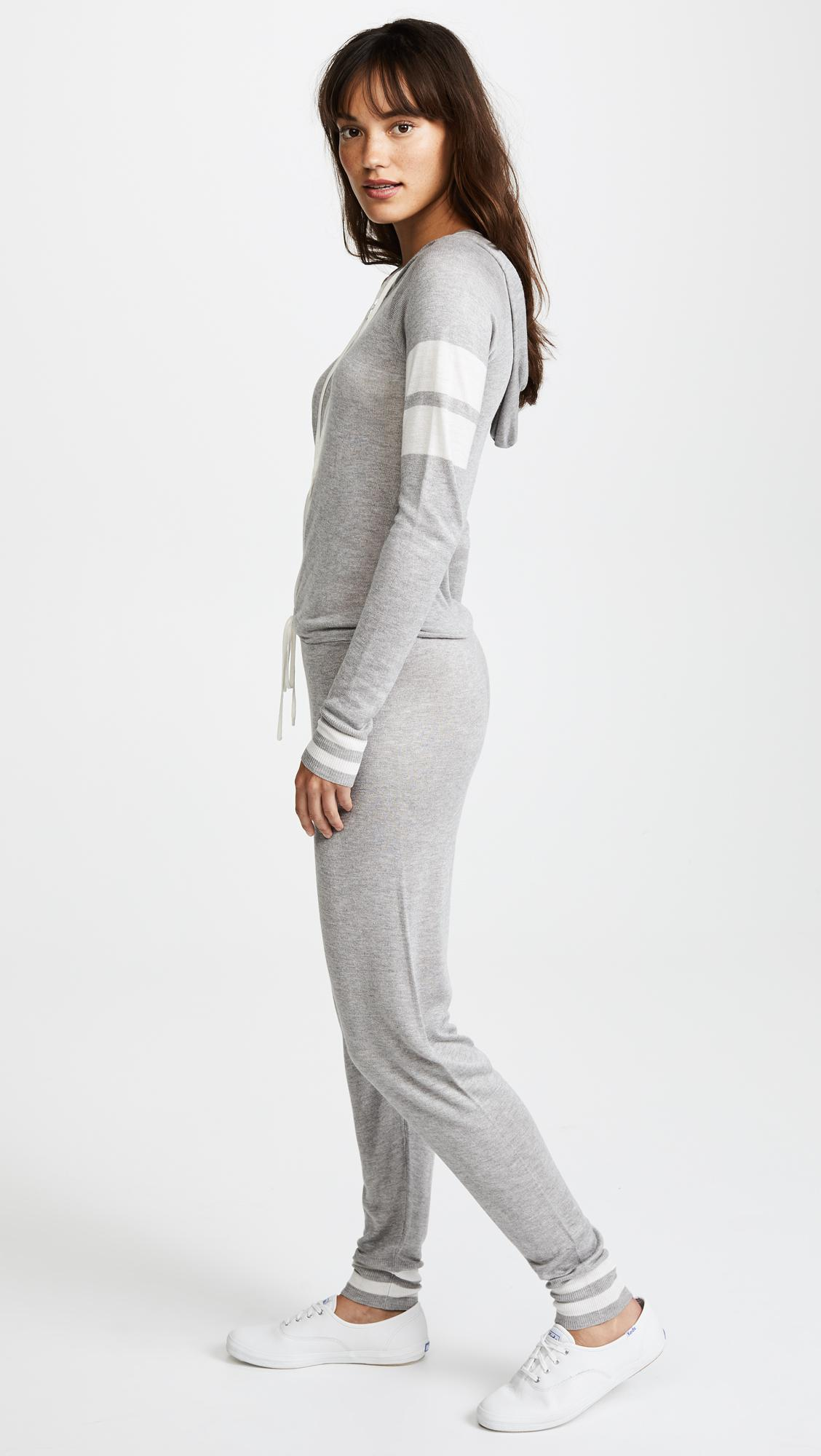 f586055e31e Lyst - Spiritual Gangster X Madeleine Thompson Stripe Jumpsuit in Gray