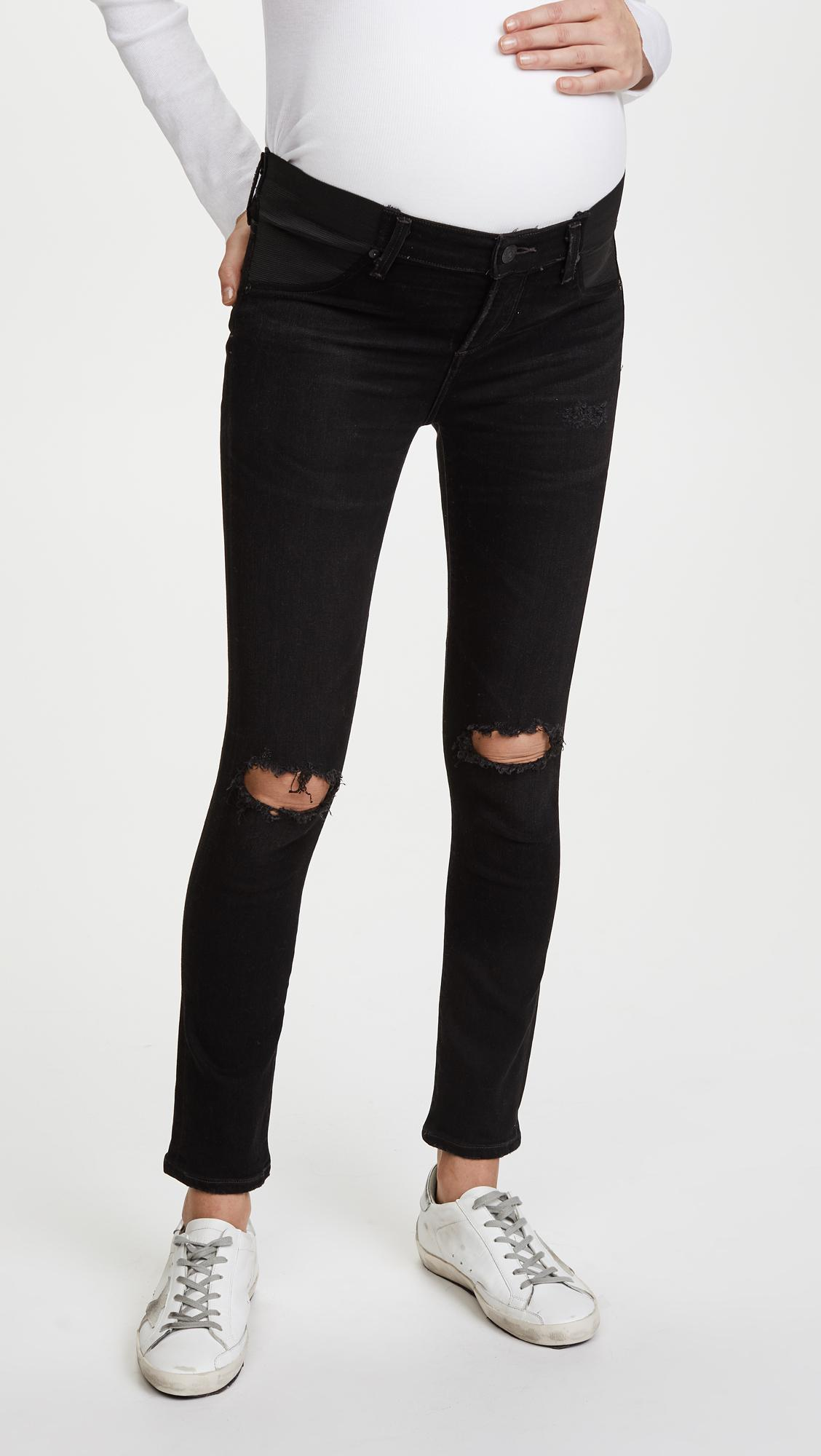 4f380baa89332 Lyst - Citizens of Humanity Maternity Avedon Ankle Jeans in Black