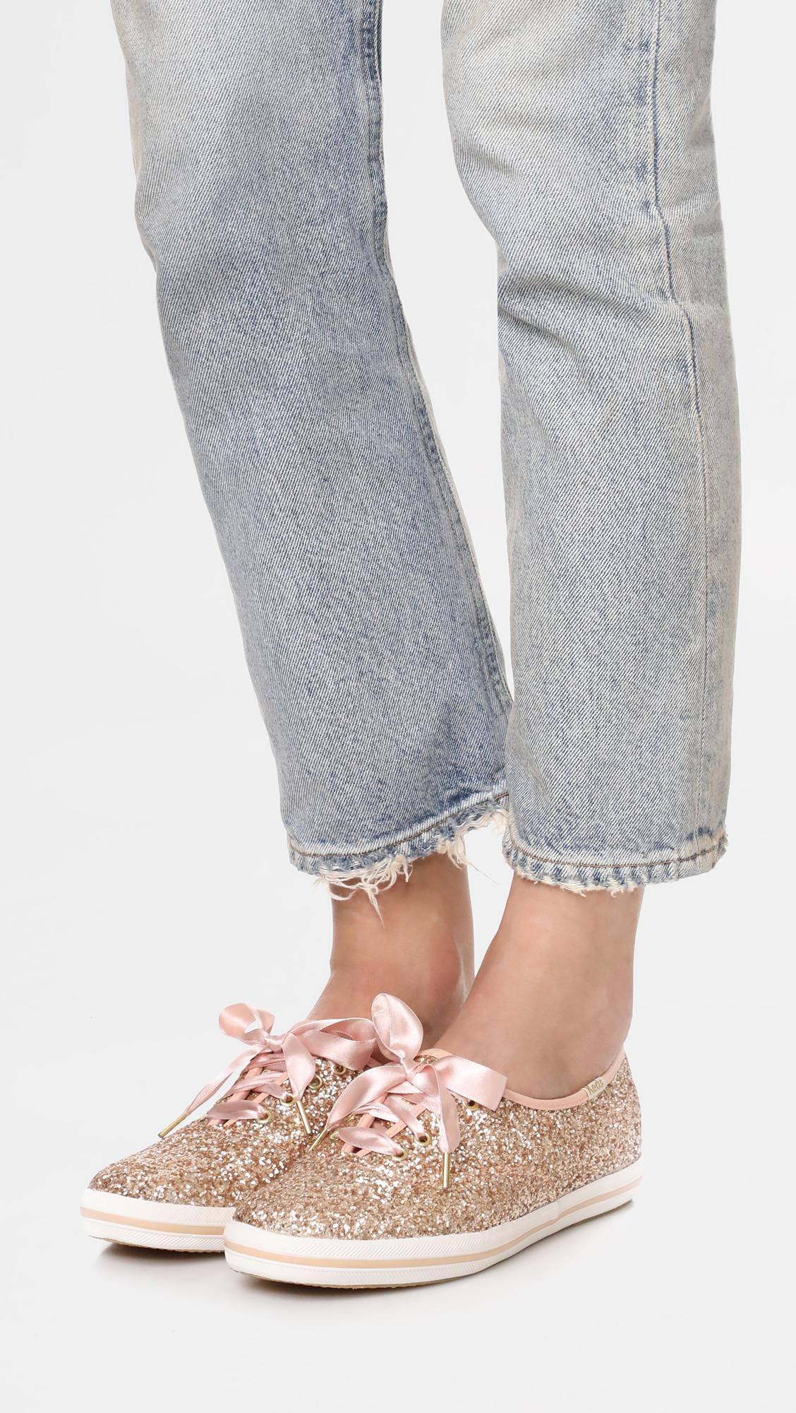 720ec30157458 Keds - Pink X Kate Spade New York Glitter Sneakers - Lyst. View fullscreen