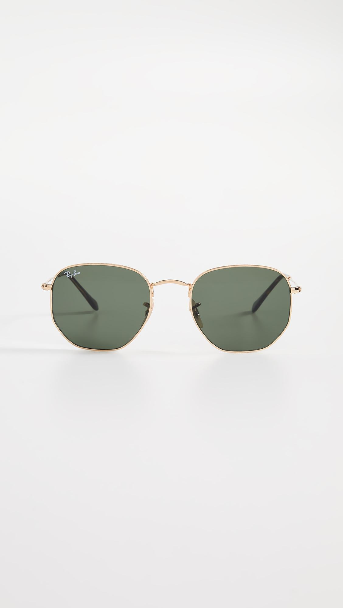 d483acd169f Ray-Ban Rb3548n Hexagonal Sunglasses in Green - Lyst