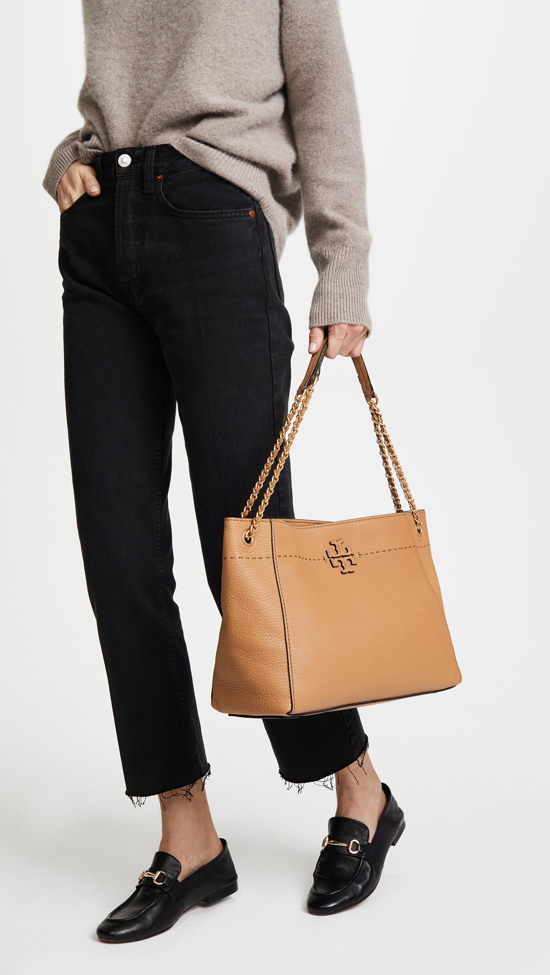 d5201b6a3874 Tory Burch Mcgraw Chain Shoulder Slouchy Tote - Lyst