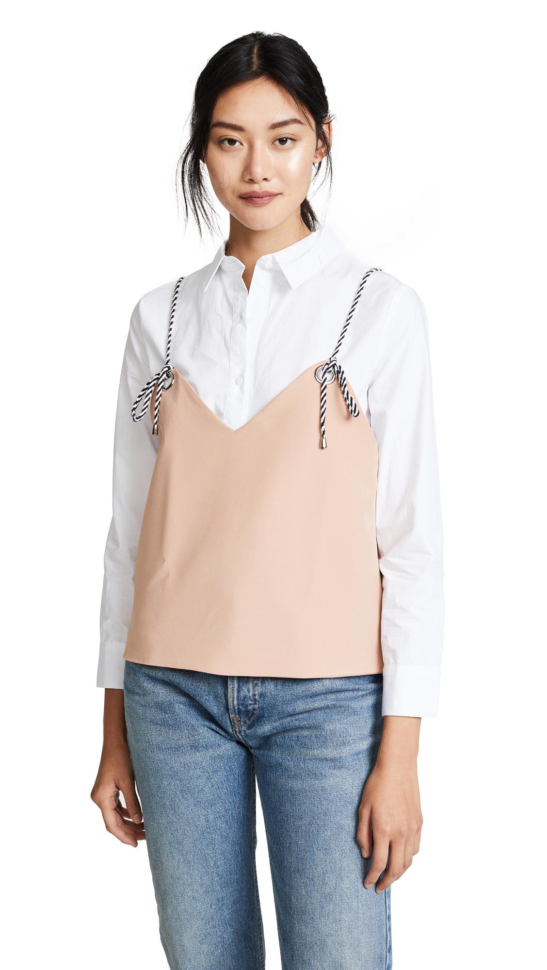 The English Factory Shirt With Cold Shoulder Layered Top Finishline Sale Online Sast Cheap Price Clearance Manchester Discount Store tQK9U