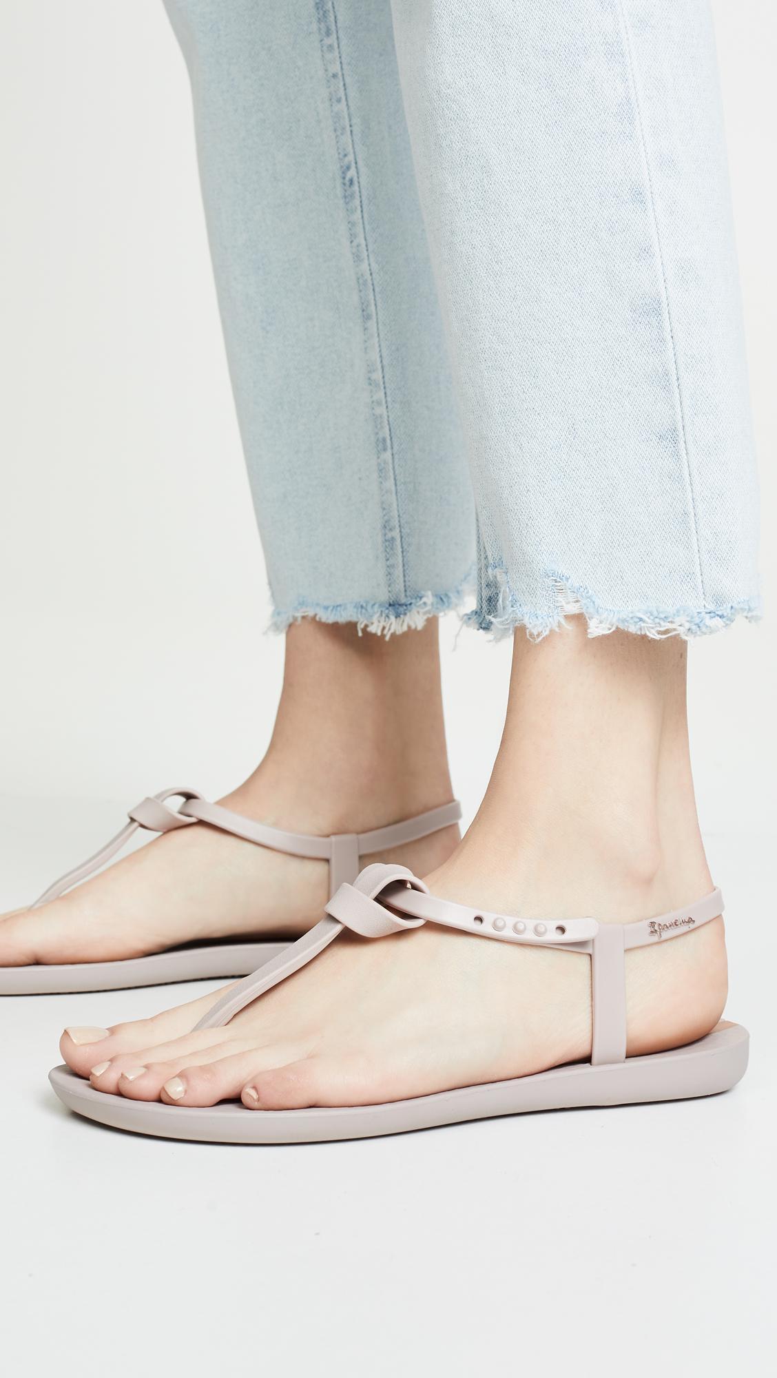 46bb3af657f2 Ipanema - Natural Ellie Knot T-strap Sandals - Lyst. View fullscreen