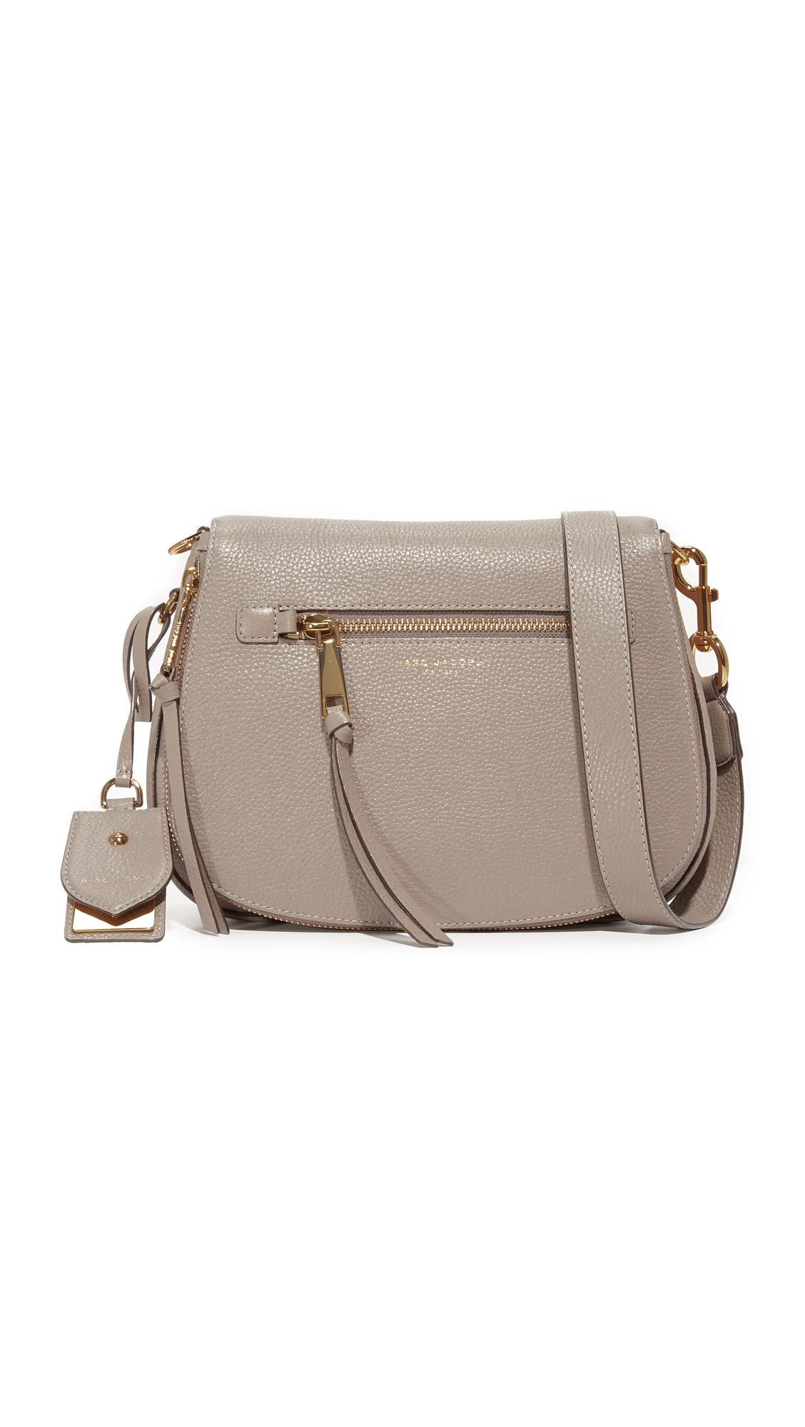a9c2628e06d9 Lyst - Marc Jacobs Recruit Saddle Bag in Brown