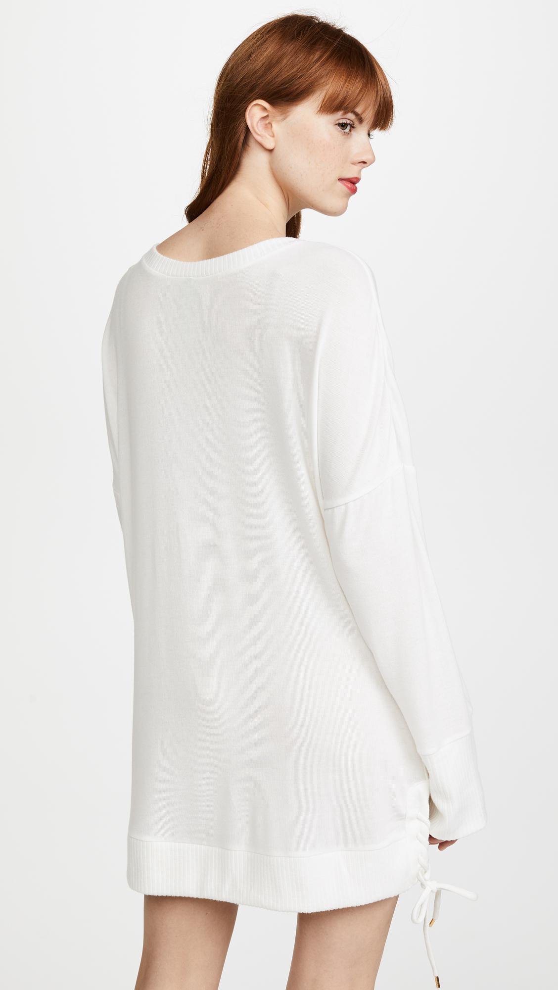 0b9647c116ff Honeydew Intimates Sleep Queen Tie Up Dress in White - Lyst