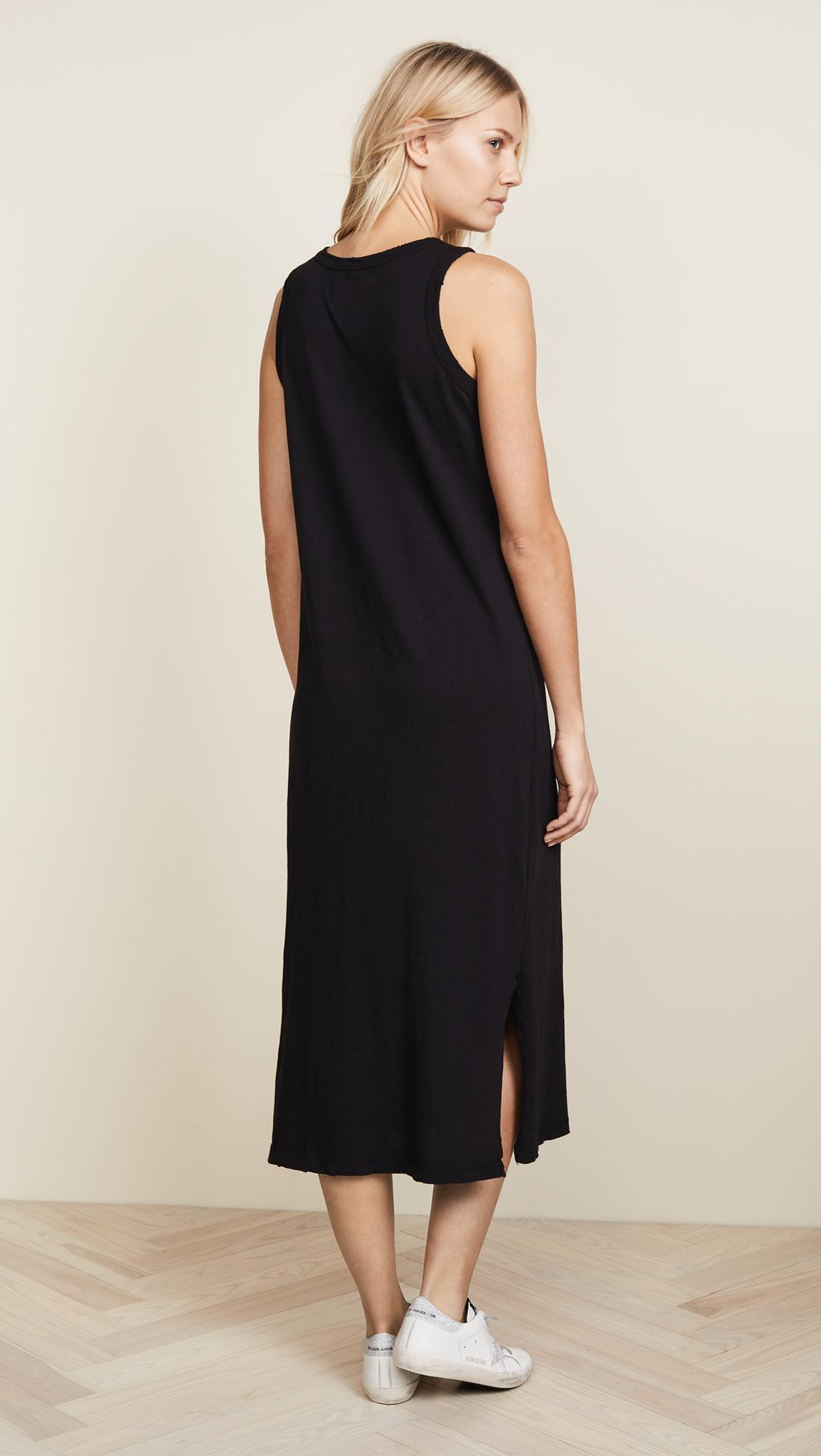 588d86fa03 Lyst - Current Elliott The Perfect Muscle Tee Dress in Black