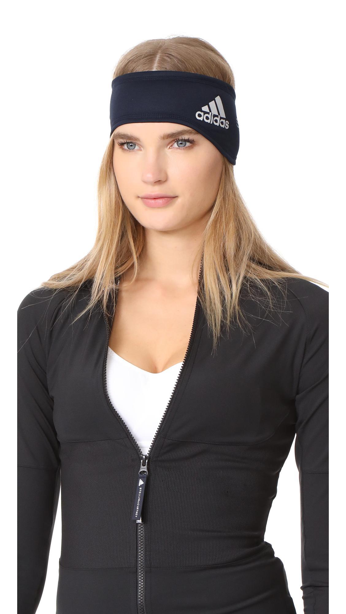 lyst adidas by stella mccartney running headband in blue. Black Bedroom Furniture Sets. Home Design Ideas