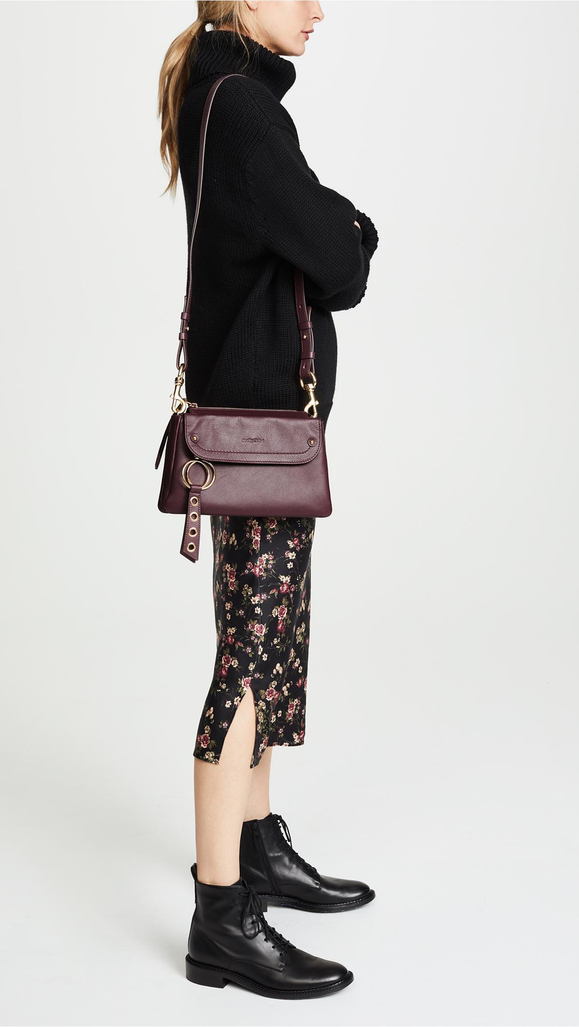 「SEE BY CHLOÉ WOMEN'S SHOULDER BAG - OBSCURE PURPLE」的圖片搜尋結果