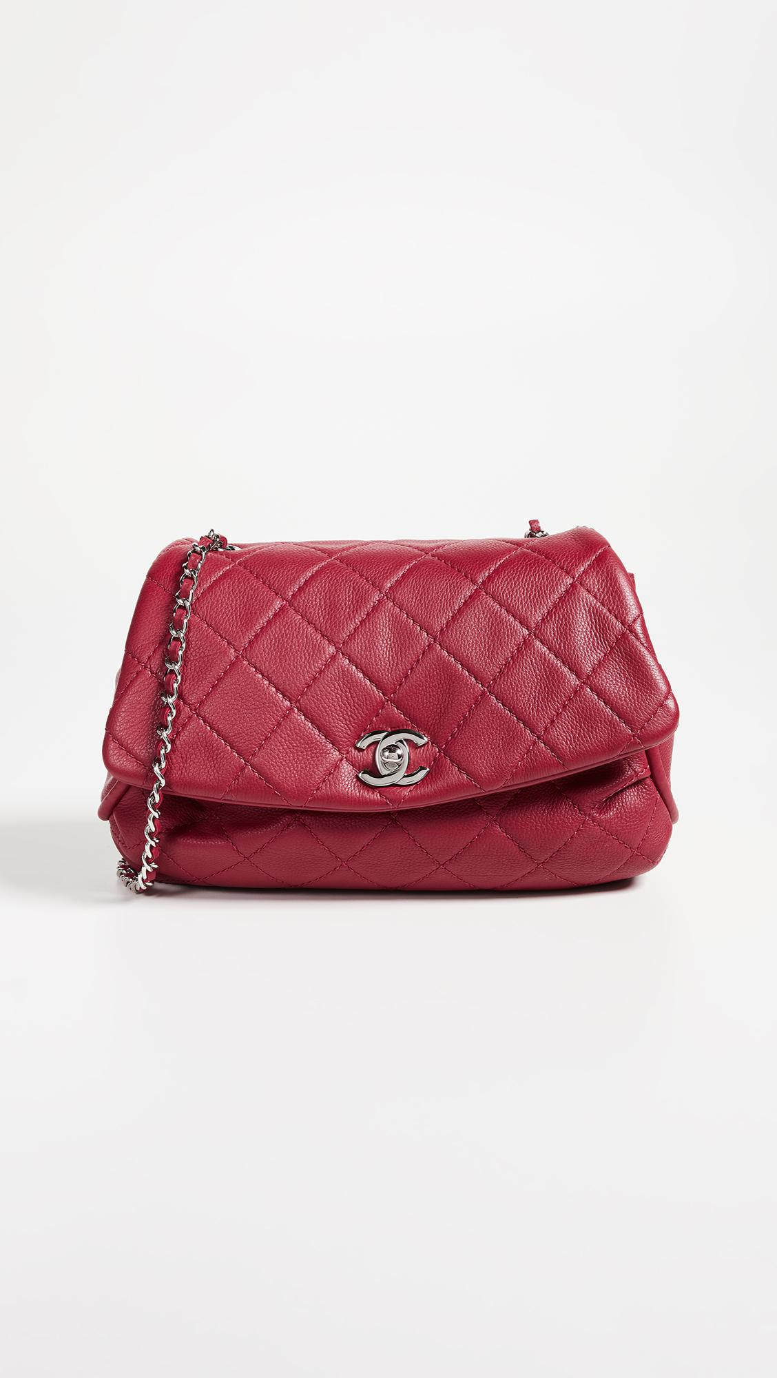 f9d65a6d4249 Lyst - What Goes Around Comes Around Chanel Lambskin Round Flap Bag ...