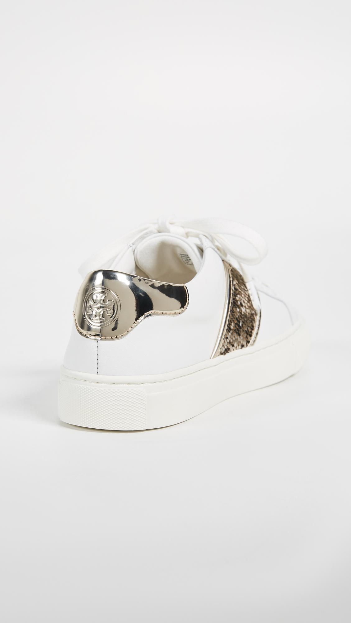 b7de7593c Lyst - Tory Burch Carter Lace Up Sneakers in White