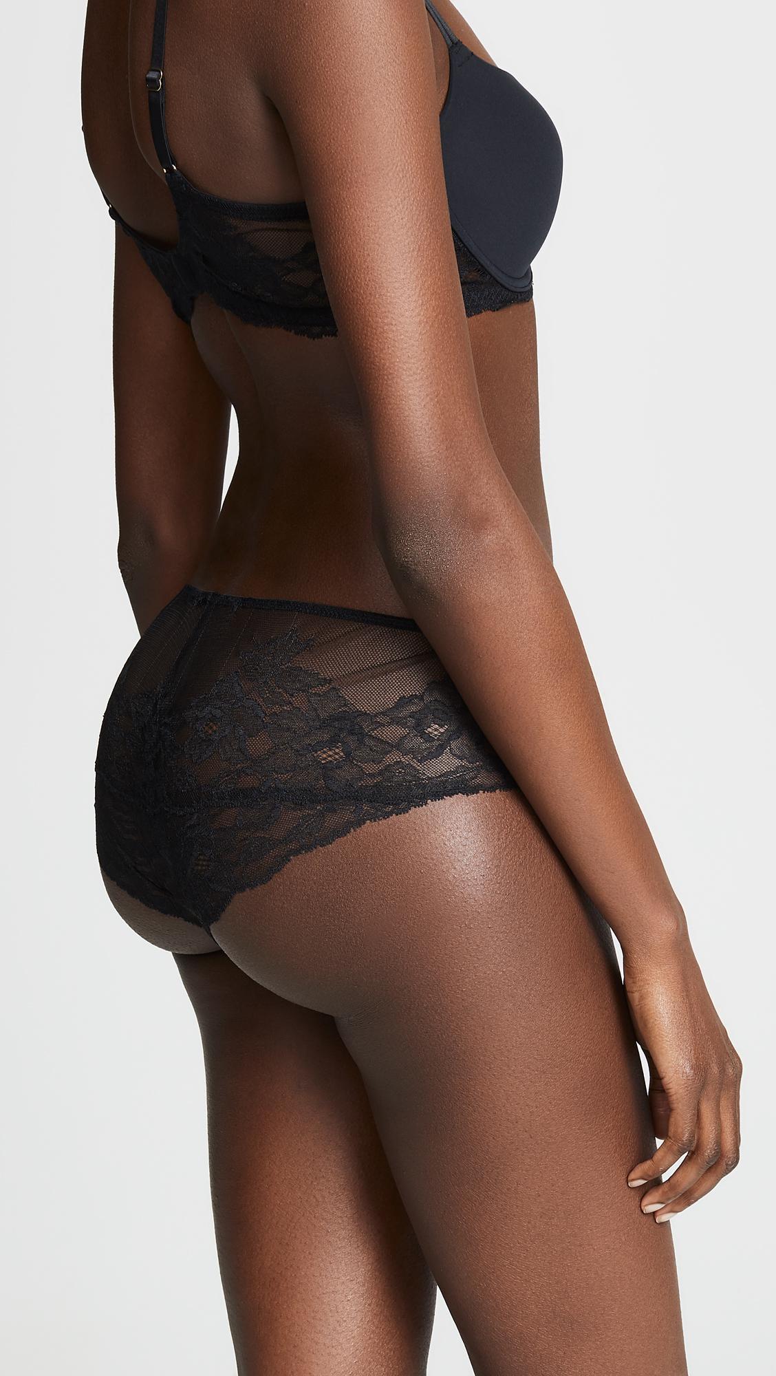47a49d4a0d74c Lyst - Natori Delight Tanga Panties in Black