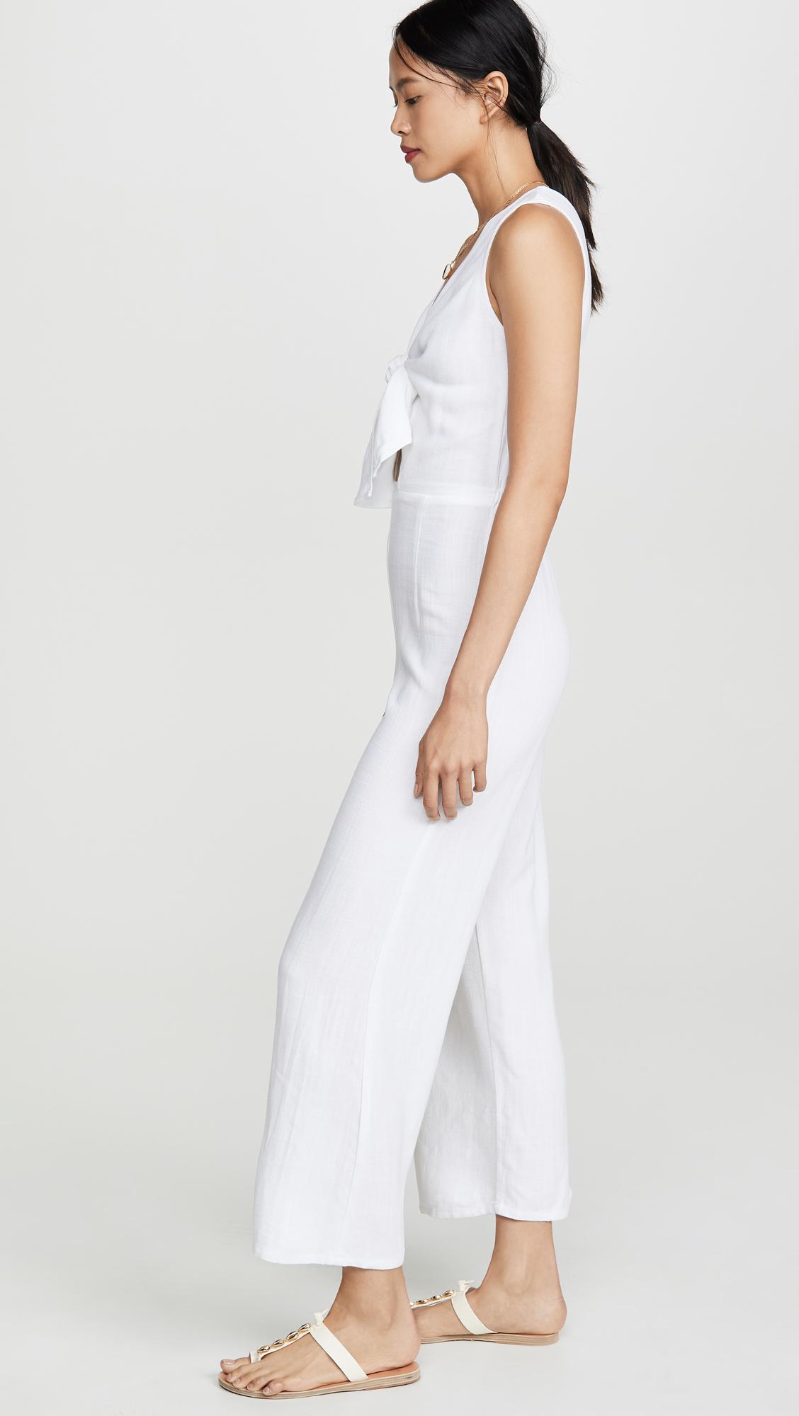 efadc4226d646 Rachel Pally Linen Sleeveless Leon Jumpsuit in White - Lyst