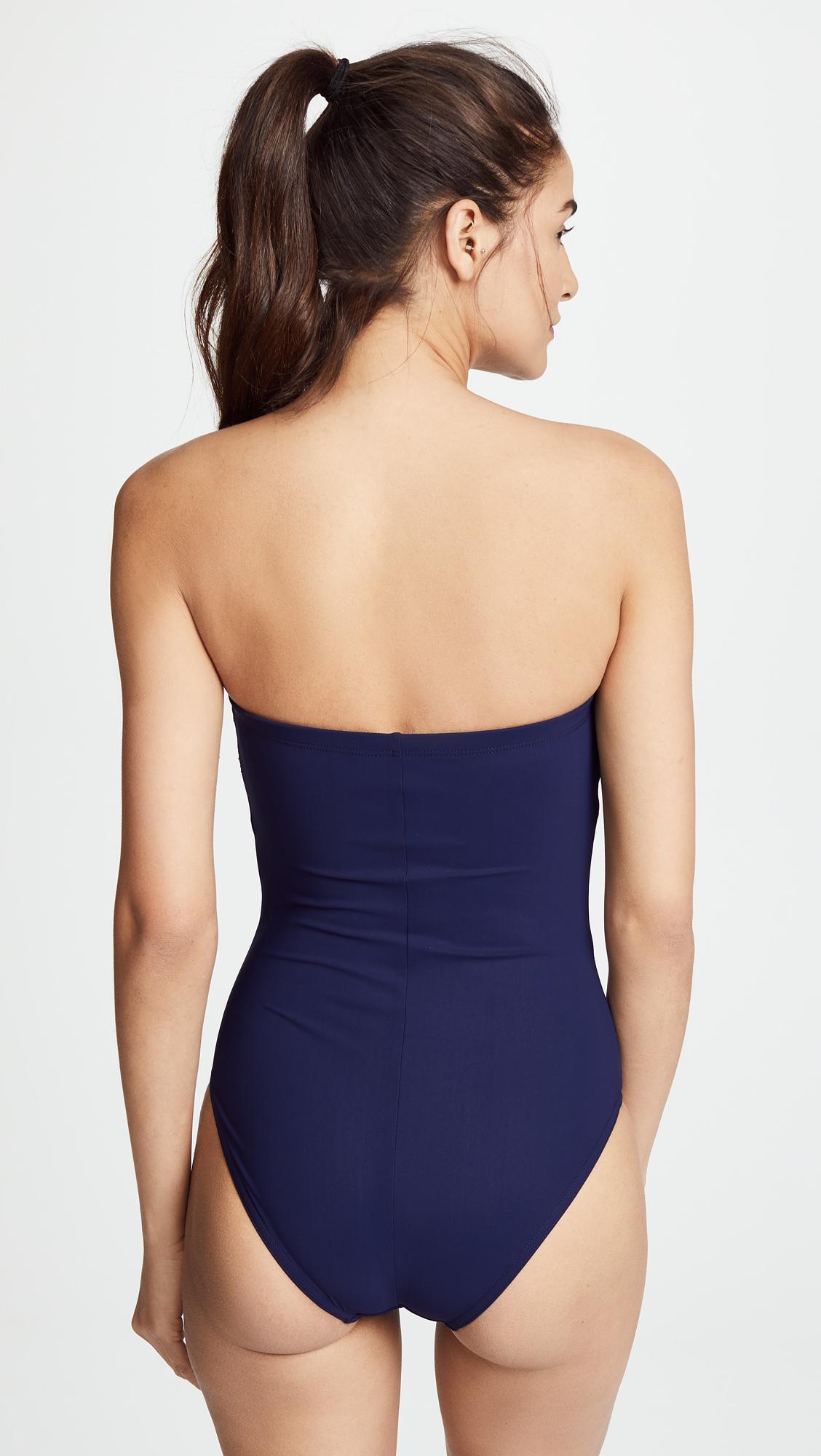 638678685a Karla Colletto - Blue Ventura Swimsuit - Lyst. View fullscreen