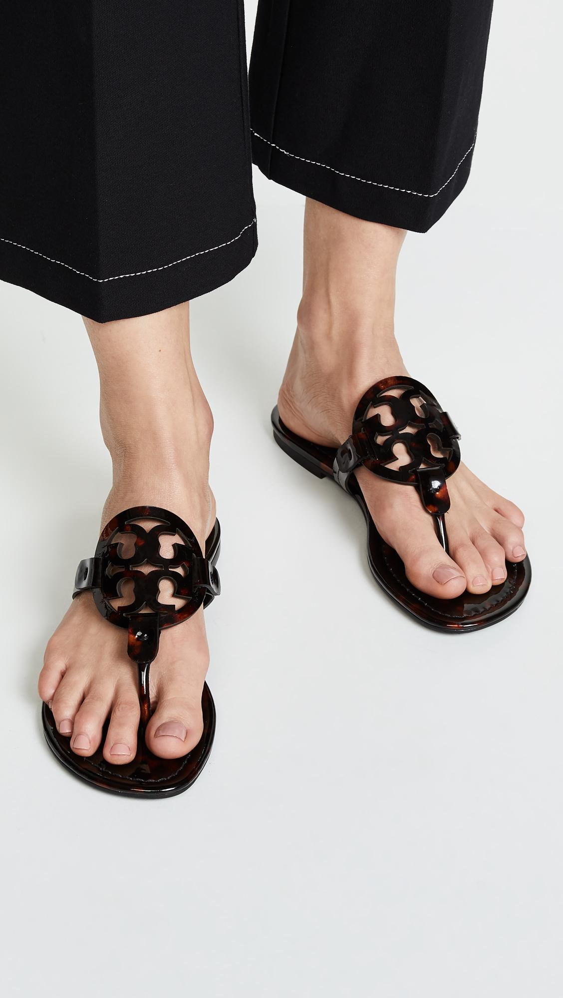 d05f03e81f1 Tory Burch - Black Miller Thong Sandals - Lyst. View fullscreen