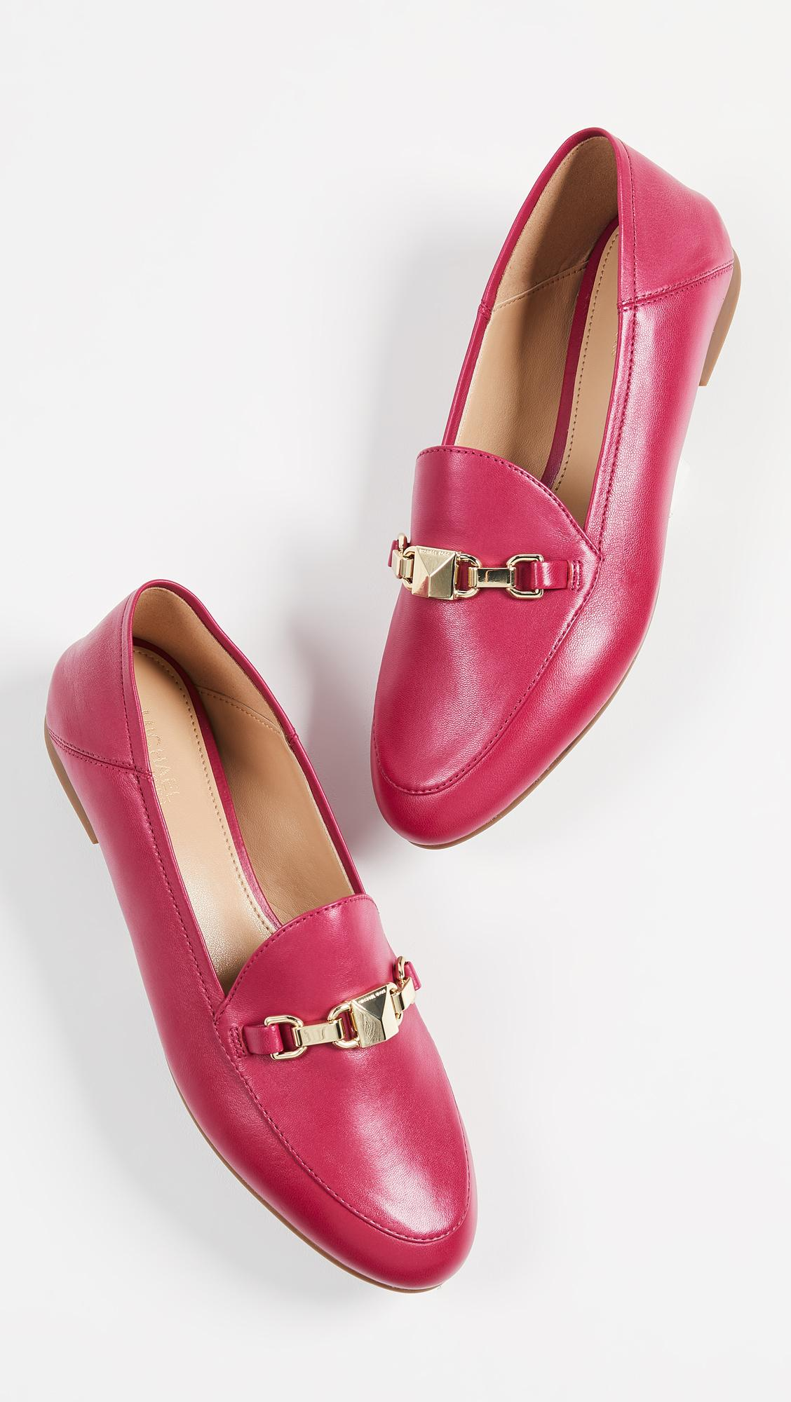 c91091a8daa Lyst - MICHAEL Michael Kors Charlton Loafers in Pink