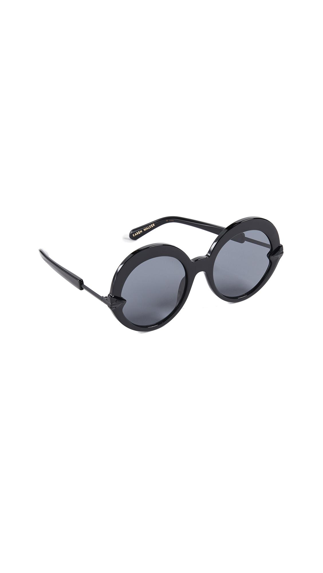 ac068c60dd Karen Walker - Black Romancer Sunglasses - Lyst. View fullscreen