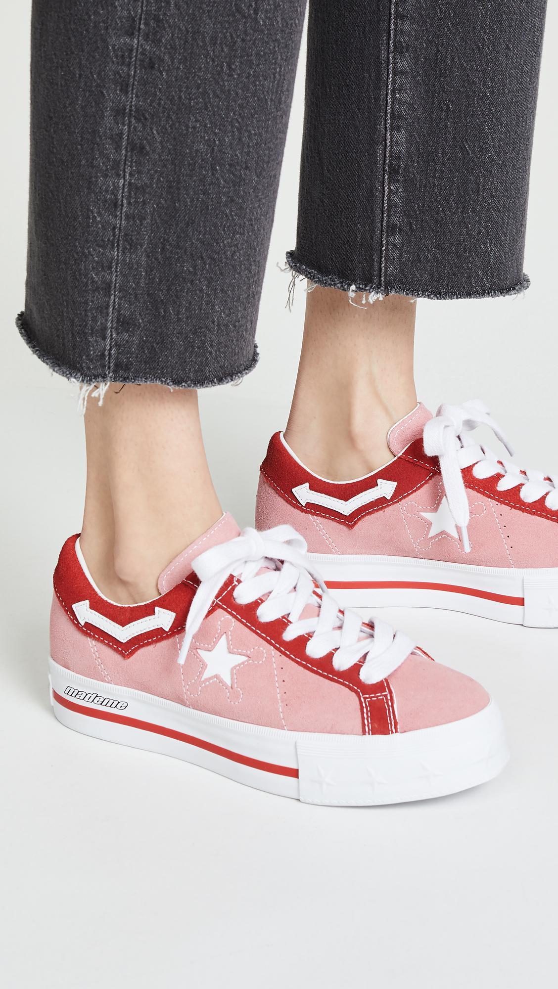 d7e86bcf9e9e1 Converse X Mademe One Star Lift Platform Sneakers in Pink - Lyst