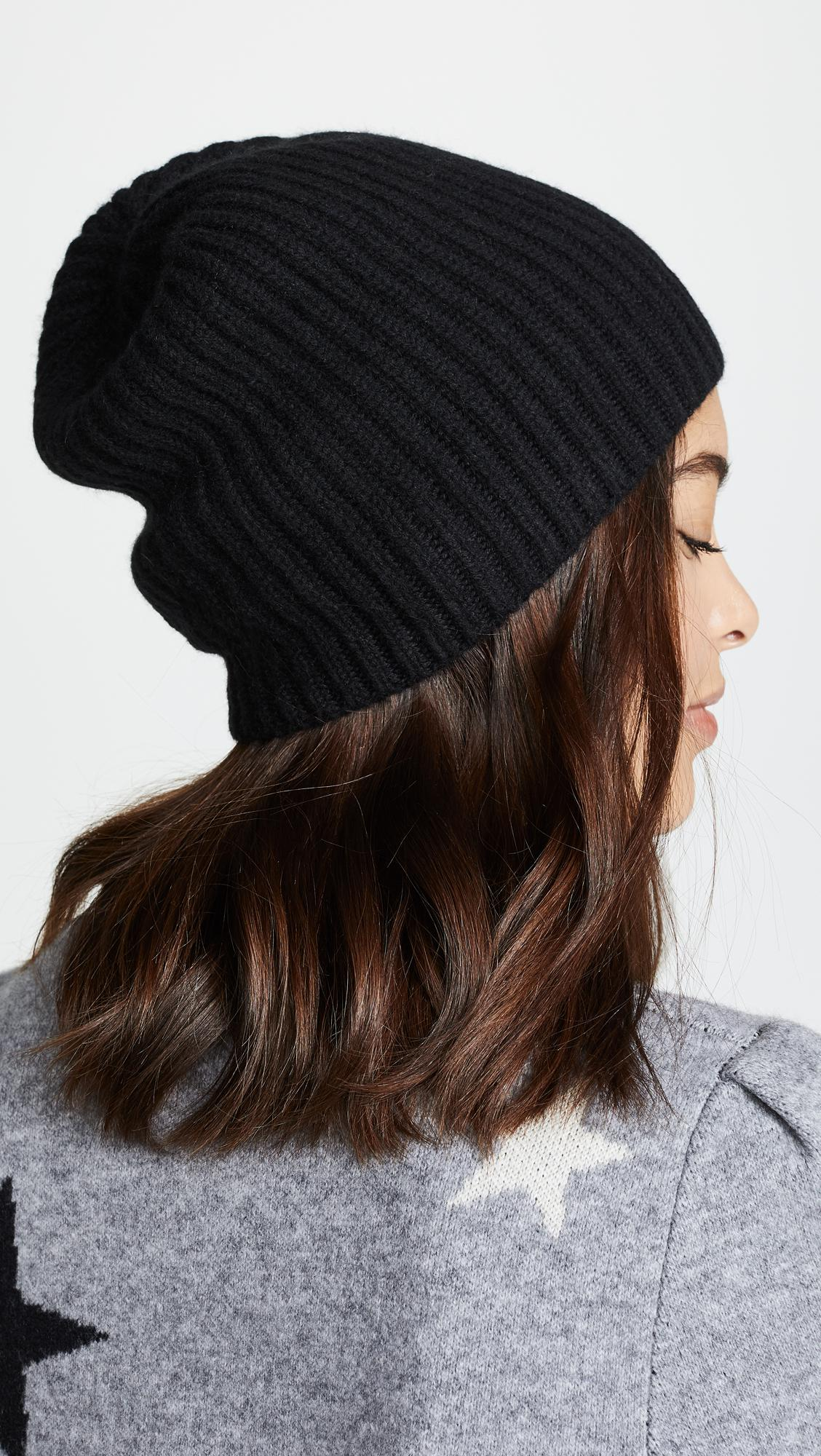 23bd470c25eeb Lyst - Club Monaco Cashmere Colleen Hat in Black