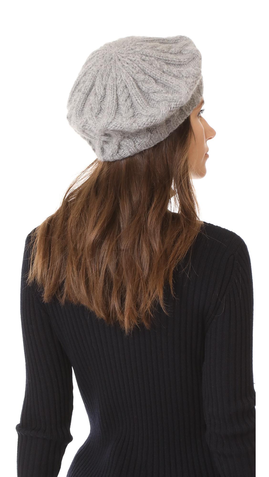 1614f5173cfab Lyst - Eugenia Kim Jamie Beret Hat in Gray