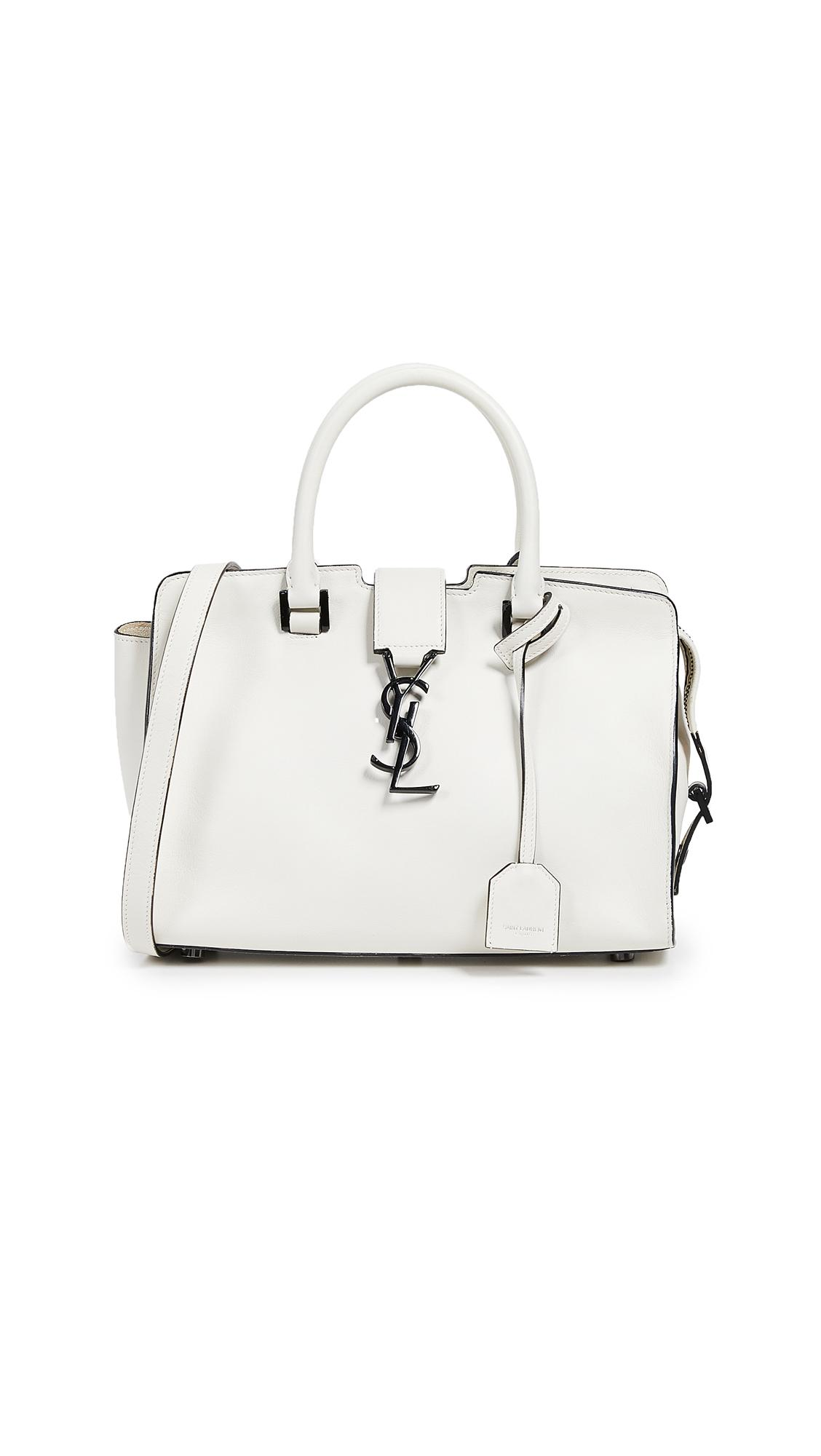 7c05a52db393 Lyst - What Goes Around Comes Around Ysl White Leather Baby Cabas ...