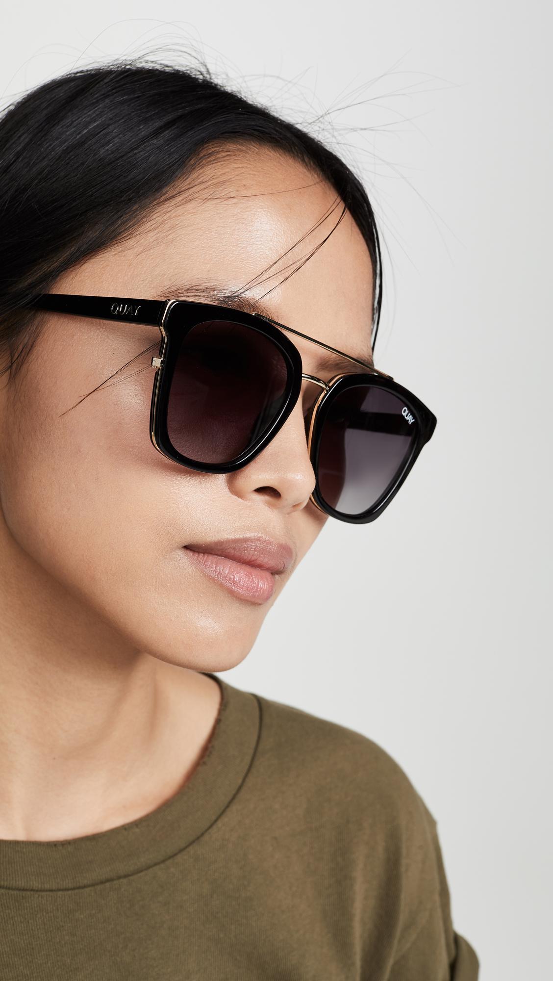 Quay Sweet Dreams Sunglasses in Black - Lyst