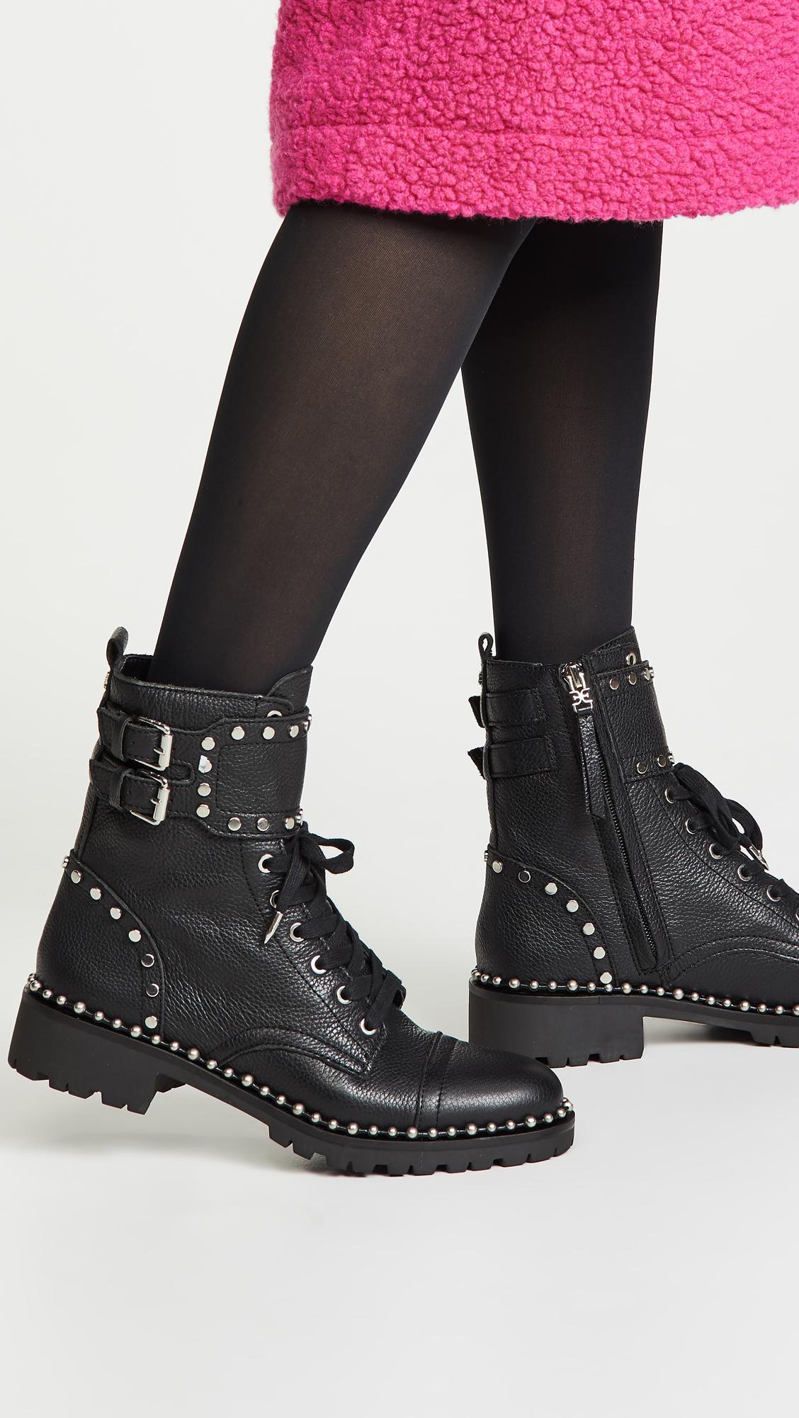 3f1a659e00be Sam Edelman - Black Jennifer Moto Boots - Lyst. View fullscreen