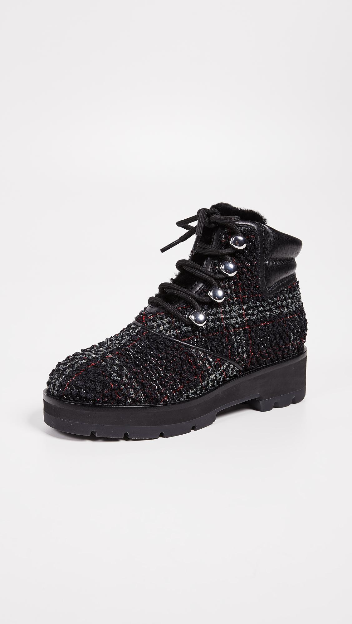 ed6deaae72802 Lyst - 3.1 Phillip Lim Dylan Lace Up Hiking Boots in Black - Save 60%