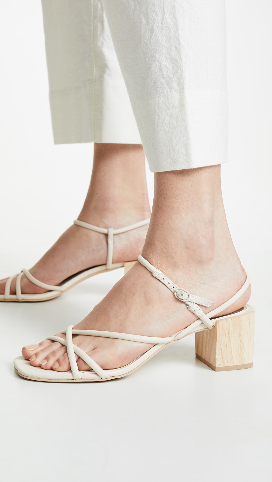 5772c6fafb0 Lyst - Dolce Vita Zayla Block Heel Sandals in White