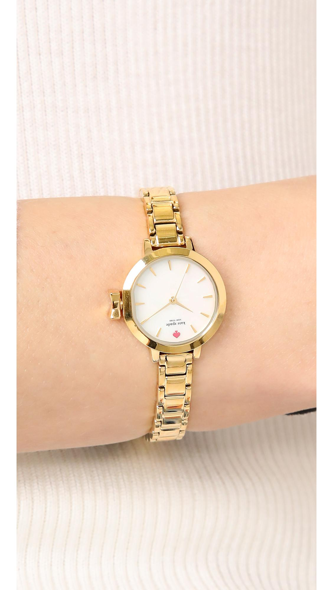 c65b1c81b Kate Spade Mini Park Row Watch in Metallic - Lyst