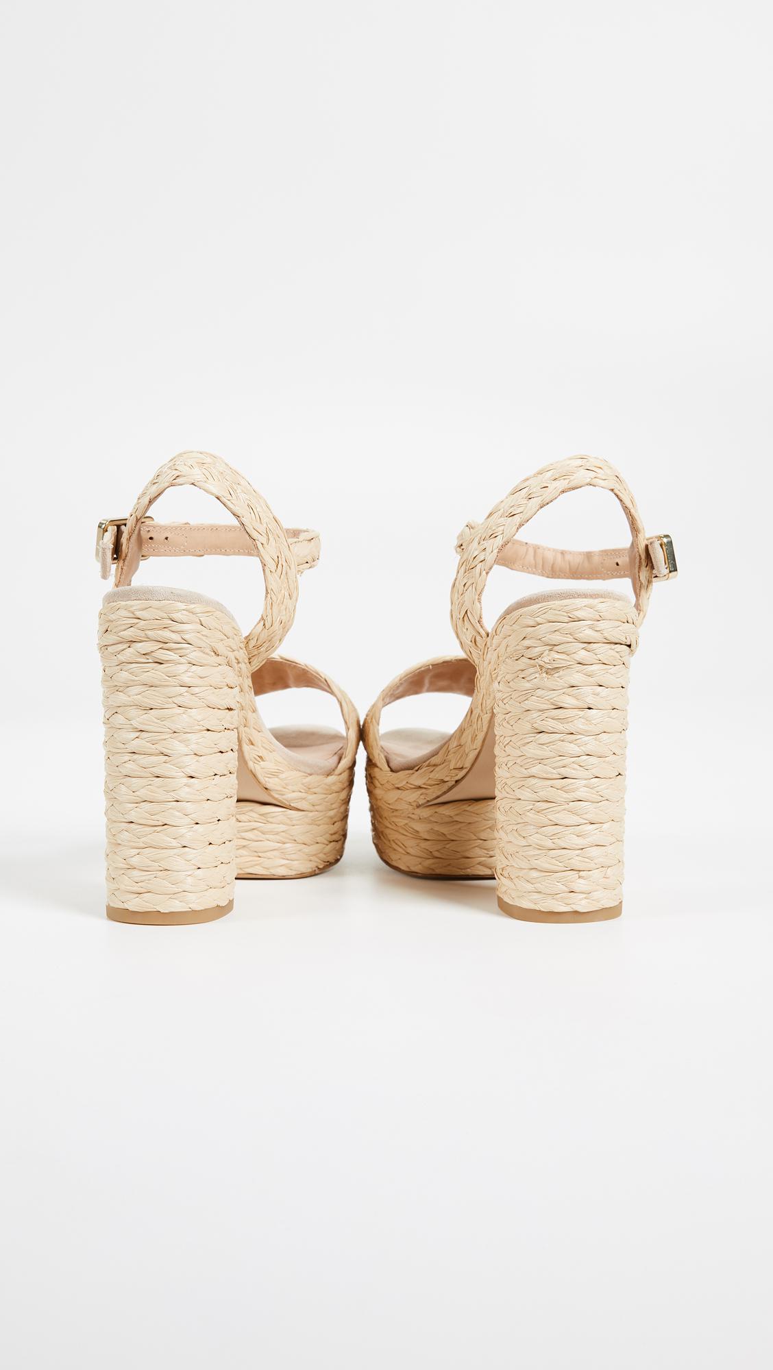 3d8dc05c031 Lyst - Castaner Abelia Platform Sandals in Natural