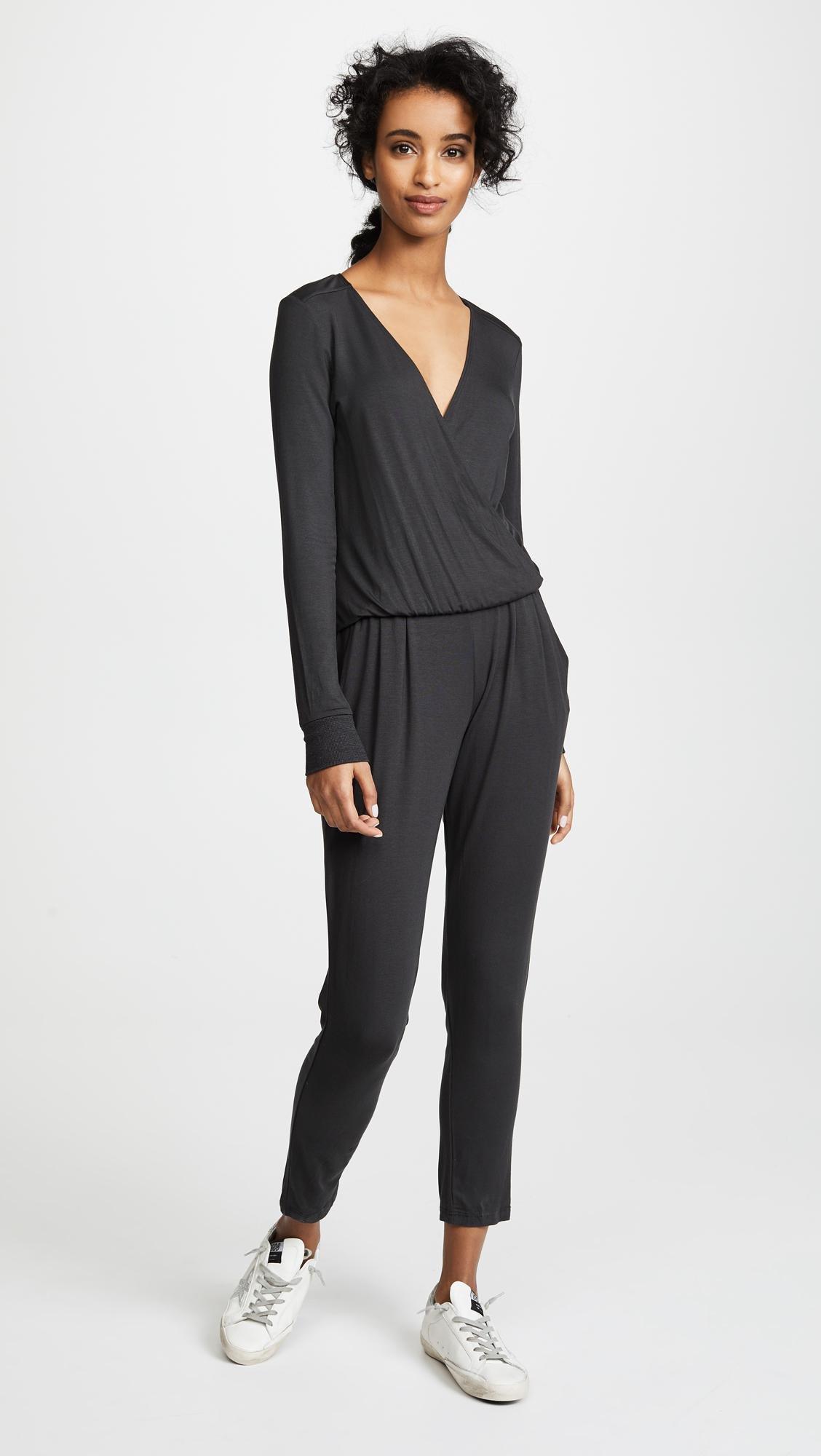 308b71cea2eb Lyst - Spiritual Gangster Surplice Jumpsuit in Black