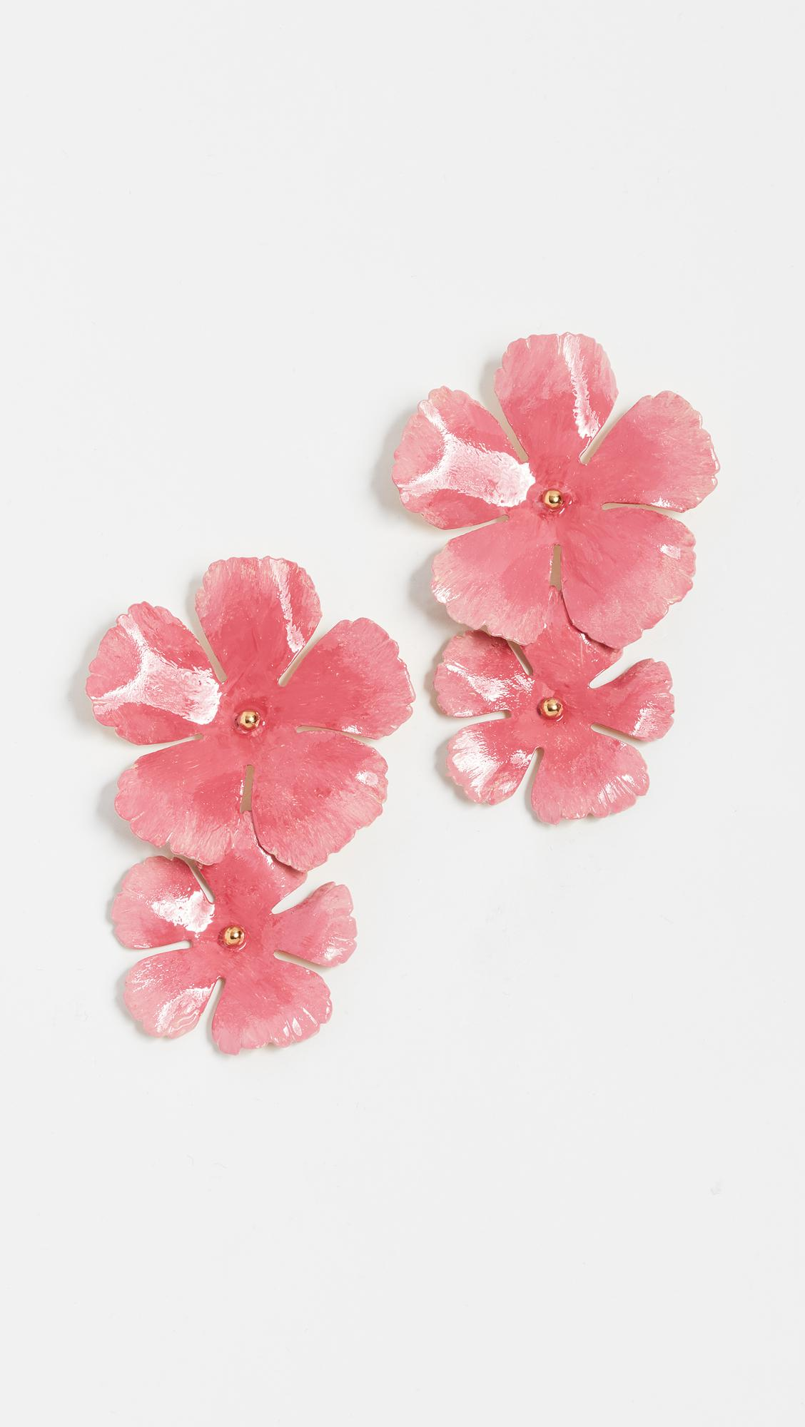 Jennifer Behr Wild Rose Hand-Painted Stud Earrings NdhX1Qtum