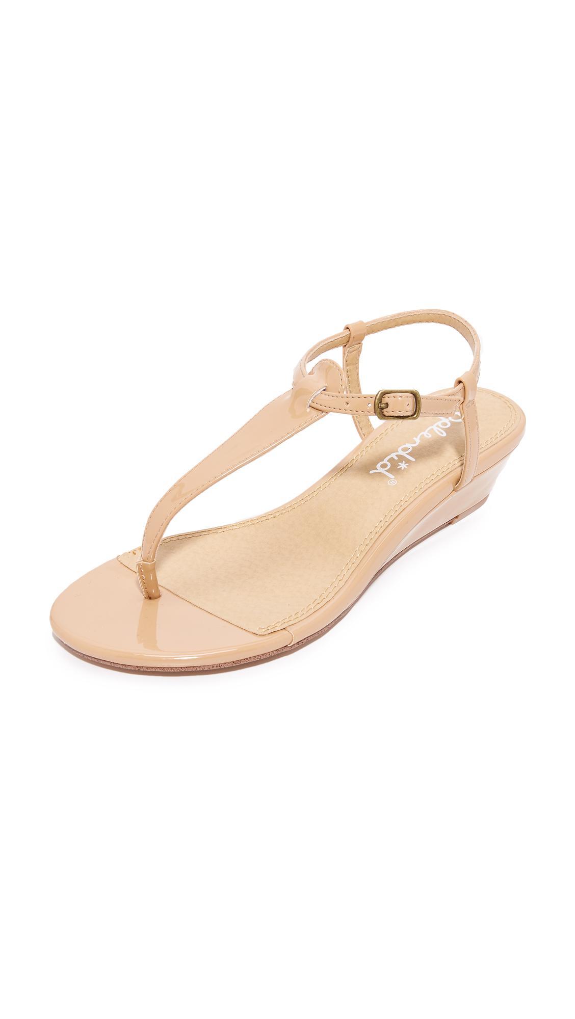 5cf9369a29f0b Lyst - Splendid Justin Demi Wedge Sandals in Natural